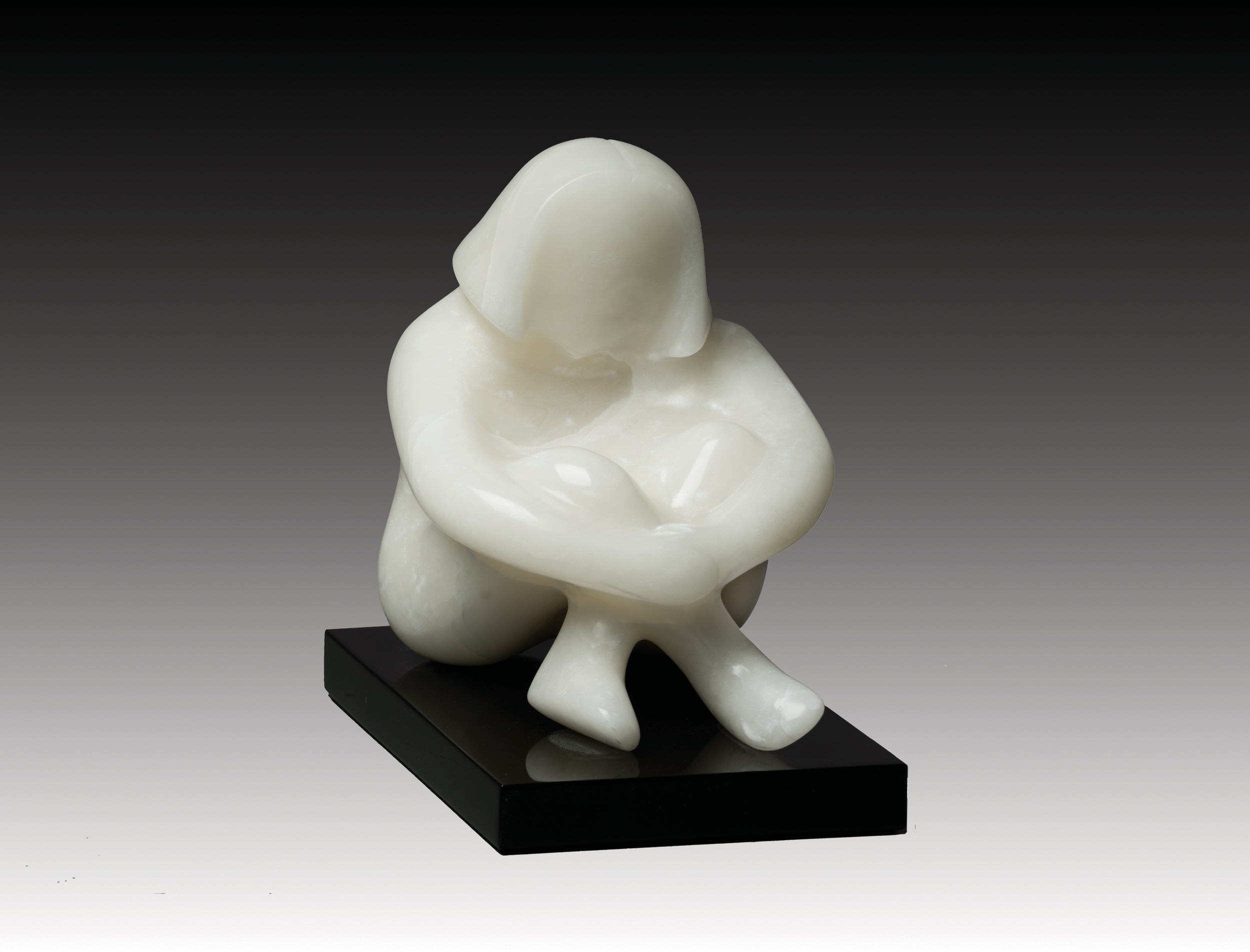 Sitting Girl II 10x7x9 Alabaster.jpeg