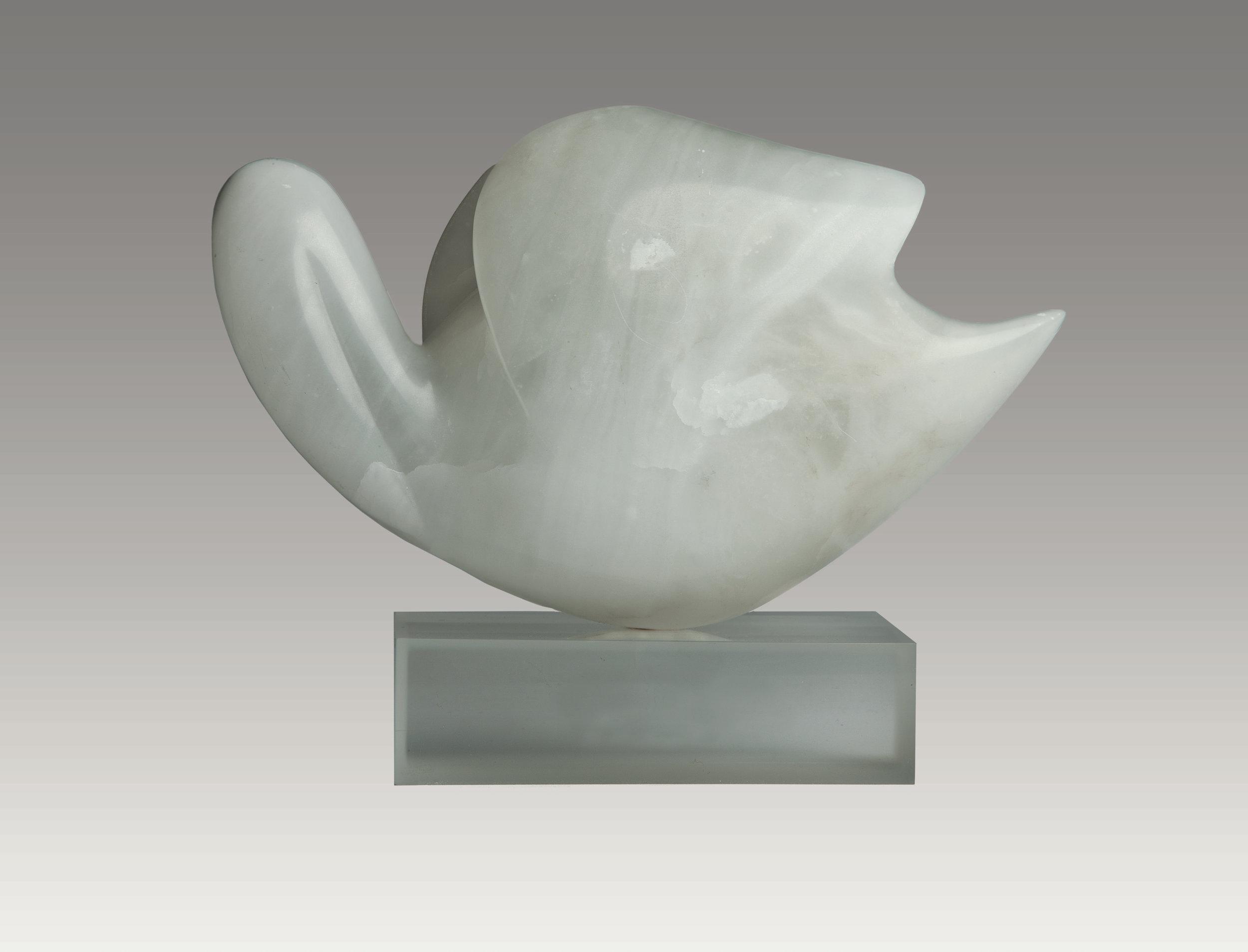 Sleeping Swan (alabaster) 7 x 12 x 5 inches