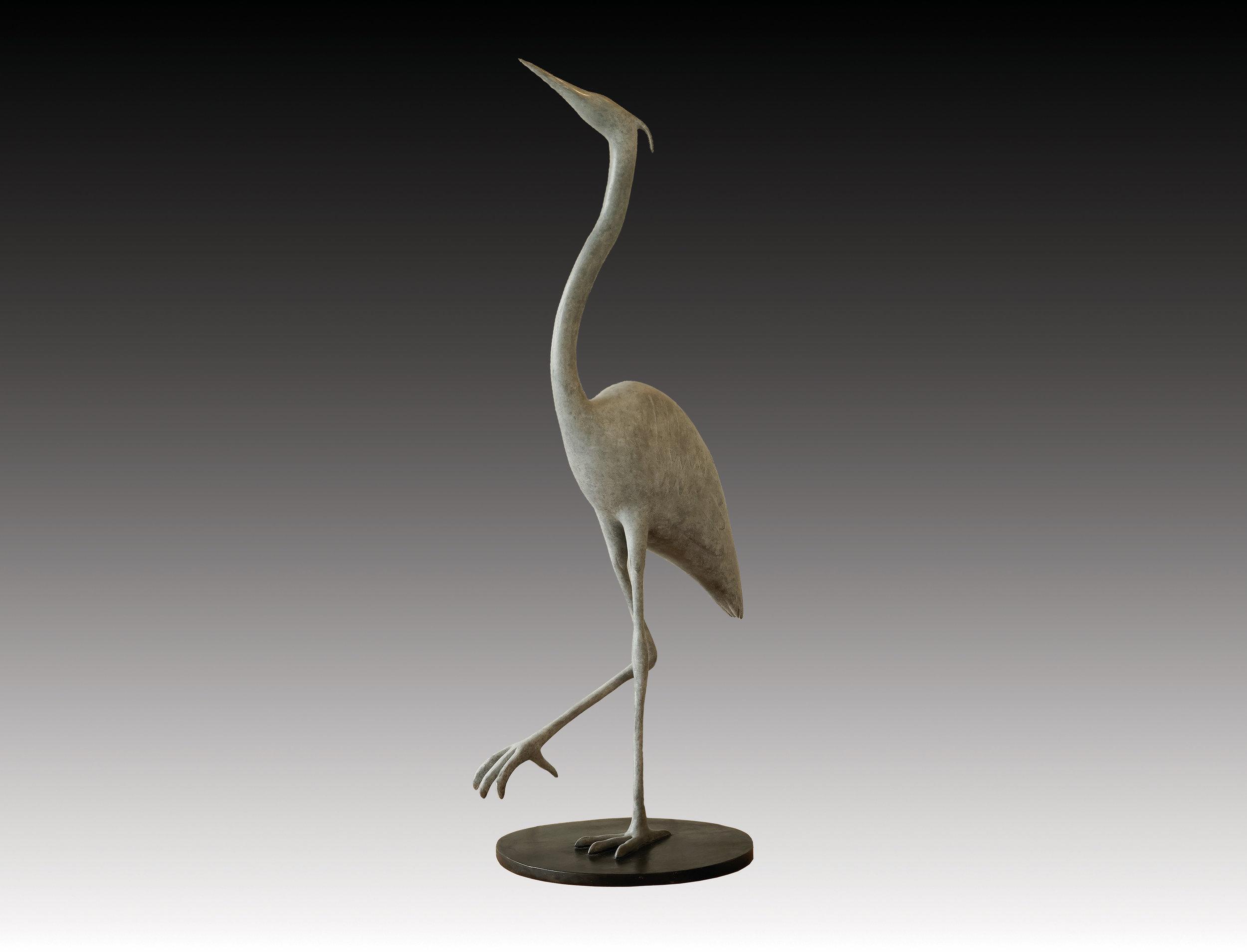 Blue Heron Alert 28x12x12 Bronze Ed9.jpg