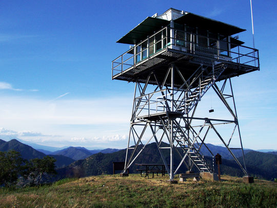 Hirz Mountain lookout overviewing Mt. Lassen wilderness. Courtesy of recreation.gov