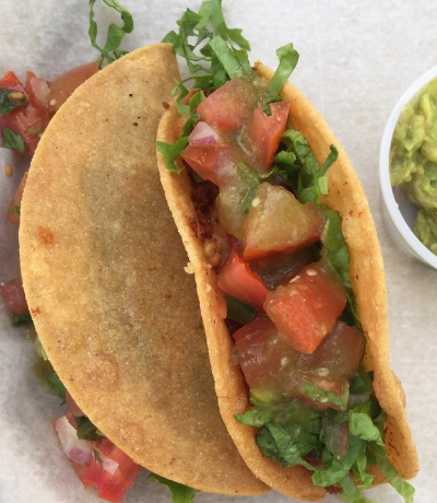 Potato tacos, simple, light and delicious.