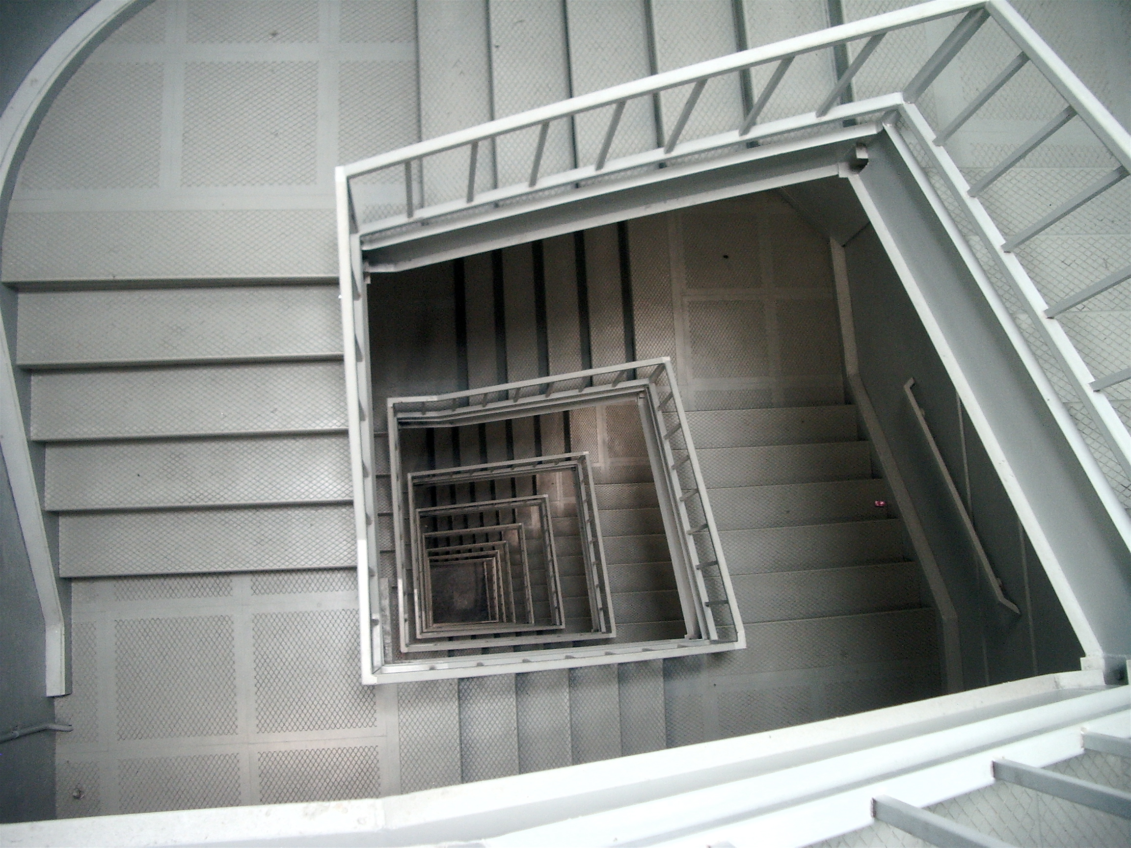 The stairwell into the UCSD Library. Waifer X