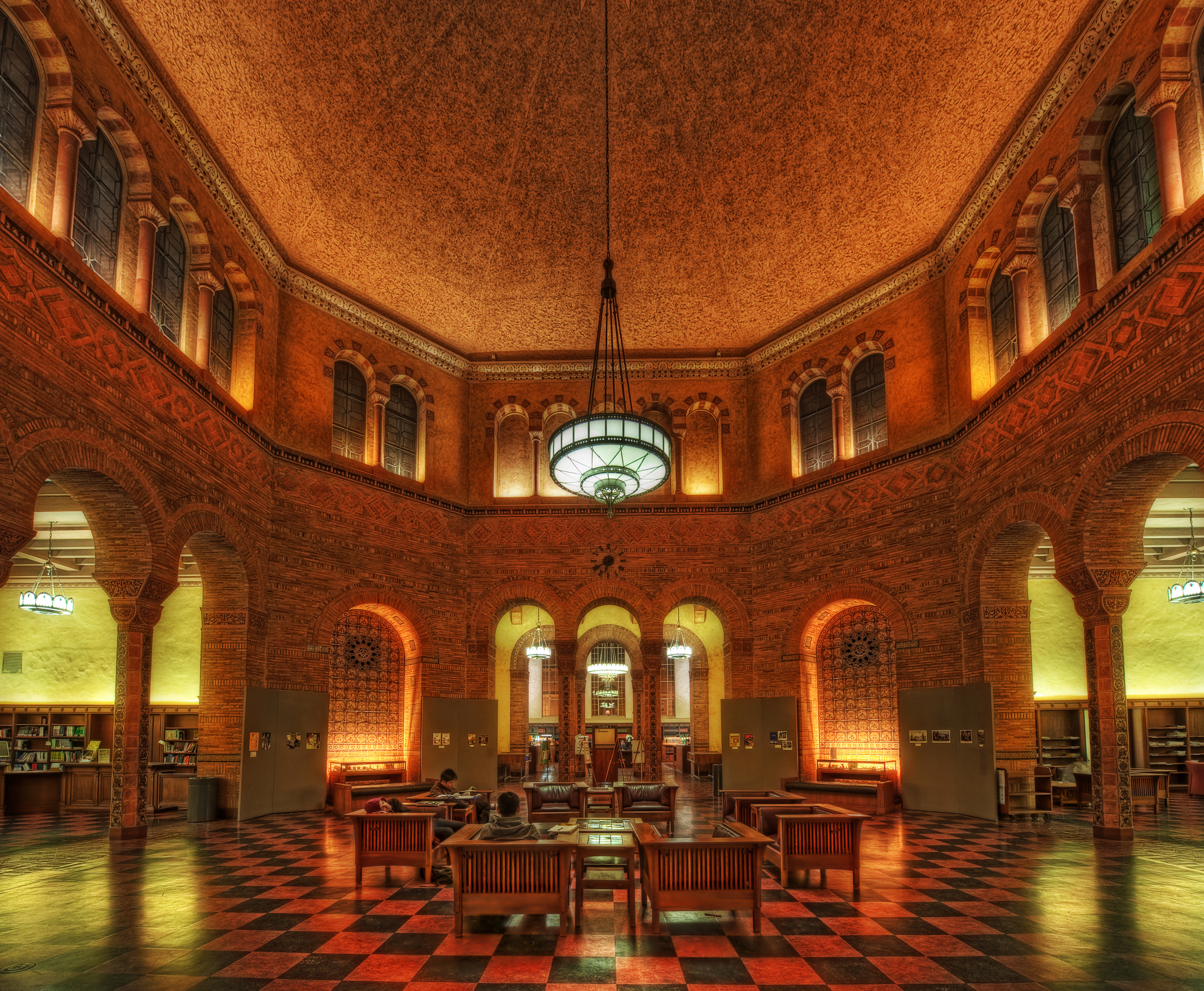 The fantastic Powell Library reading room. Justin Kern