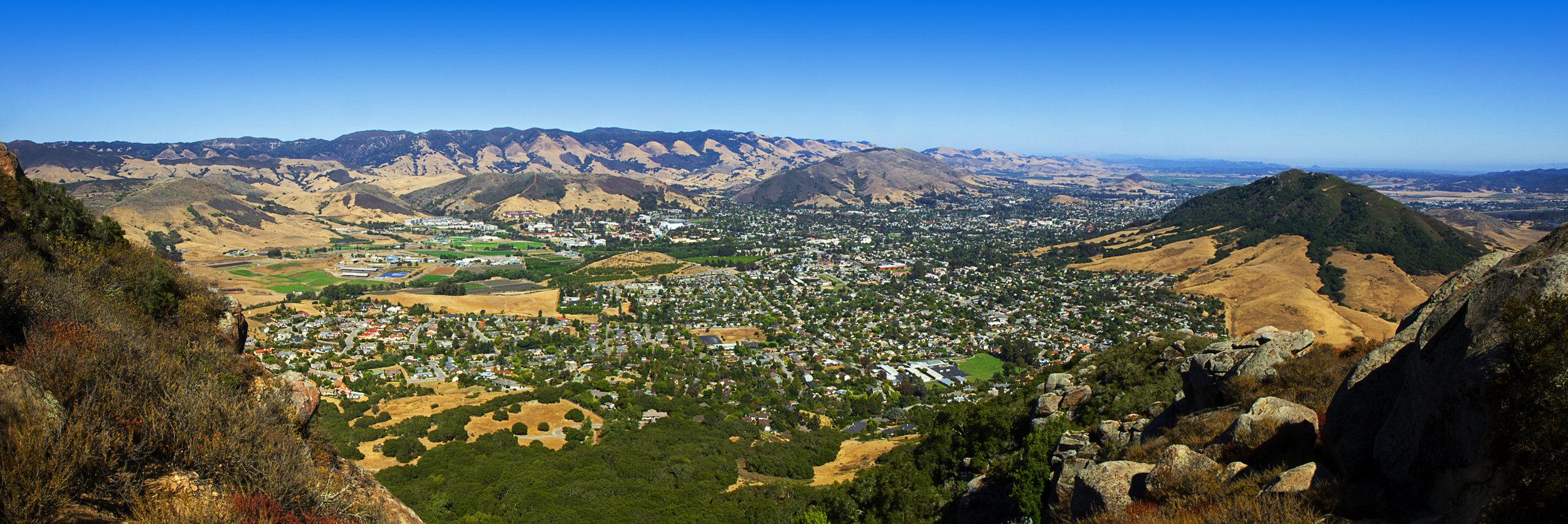 Bishop's Peak view of SLO.  Kevin Dyer
