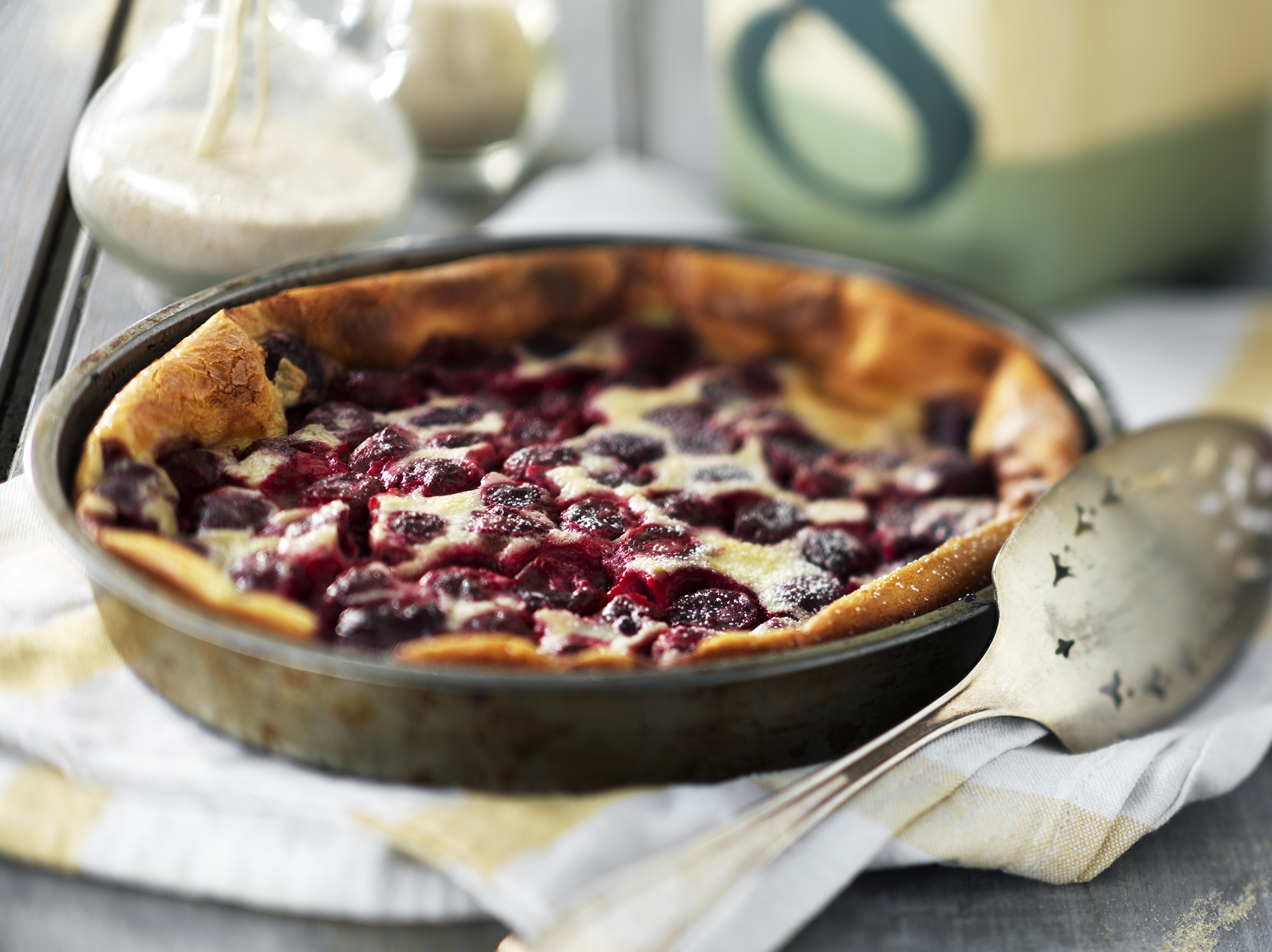 cherry clafouti editorial entertaining