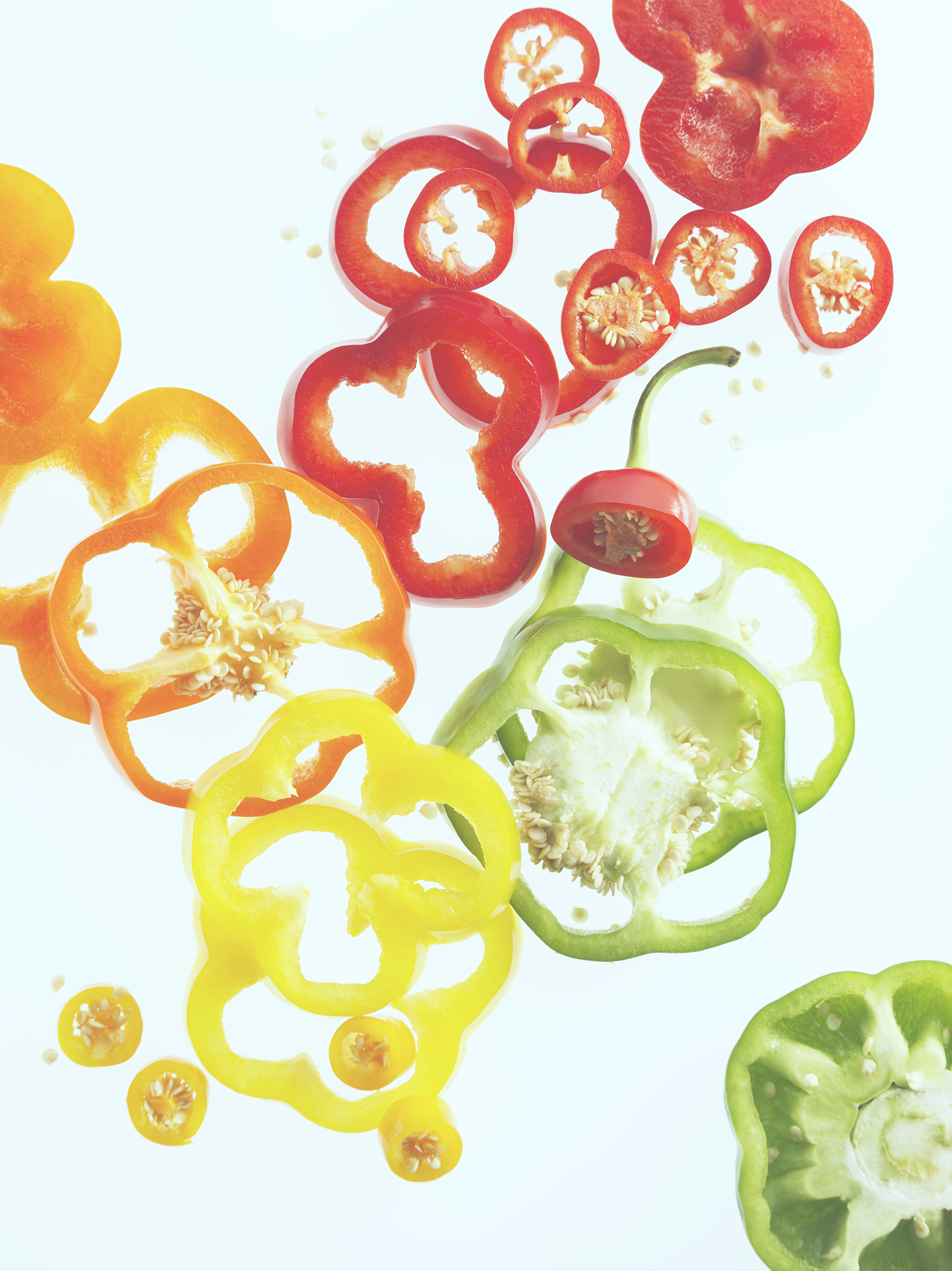 peppers still life photography