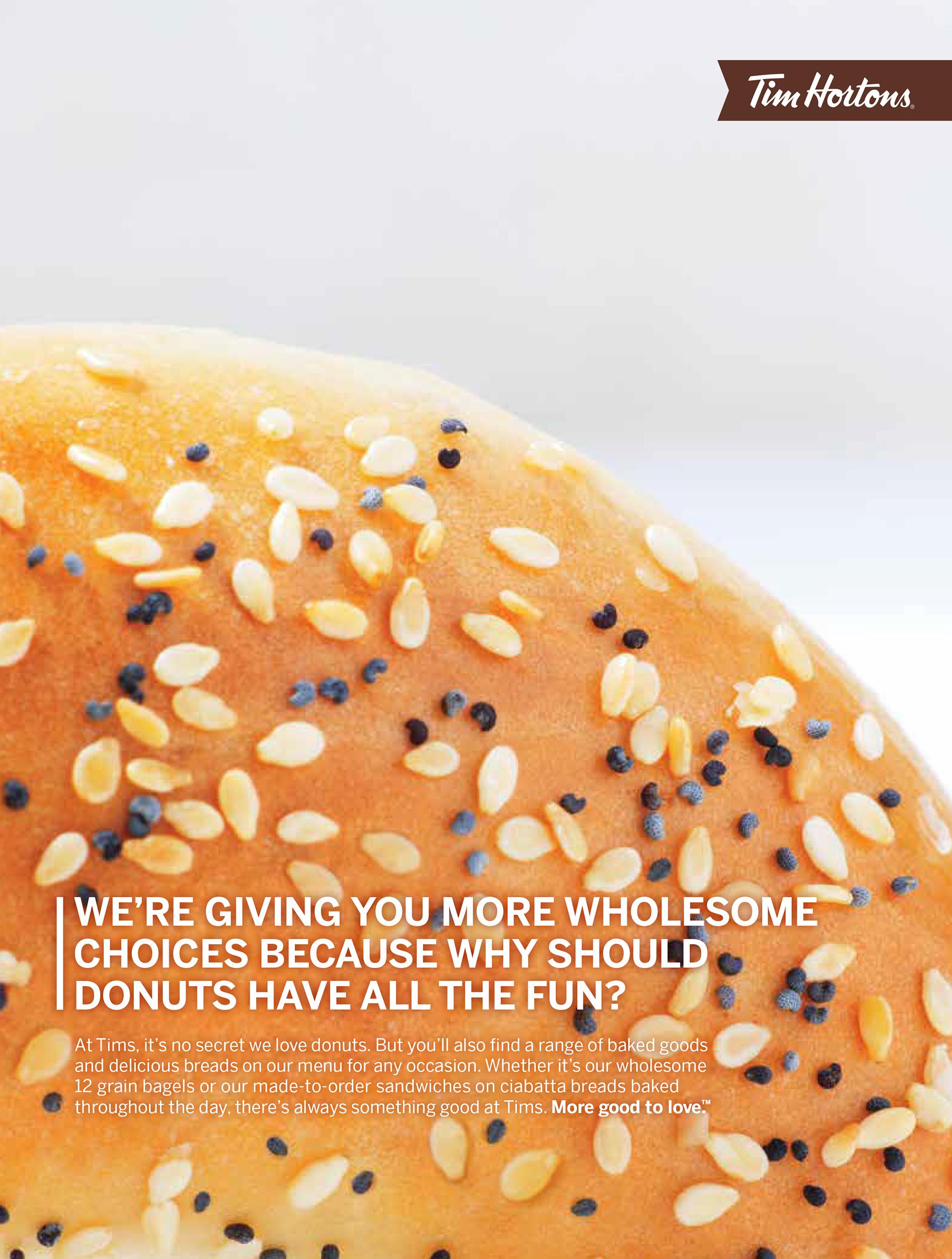 tim hortons advertising bagel baked food fuze reps