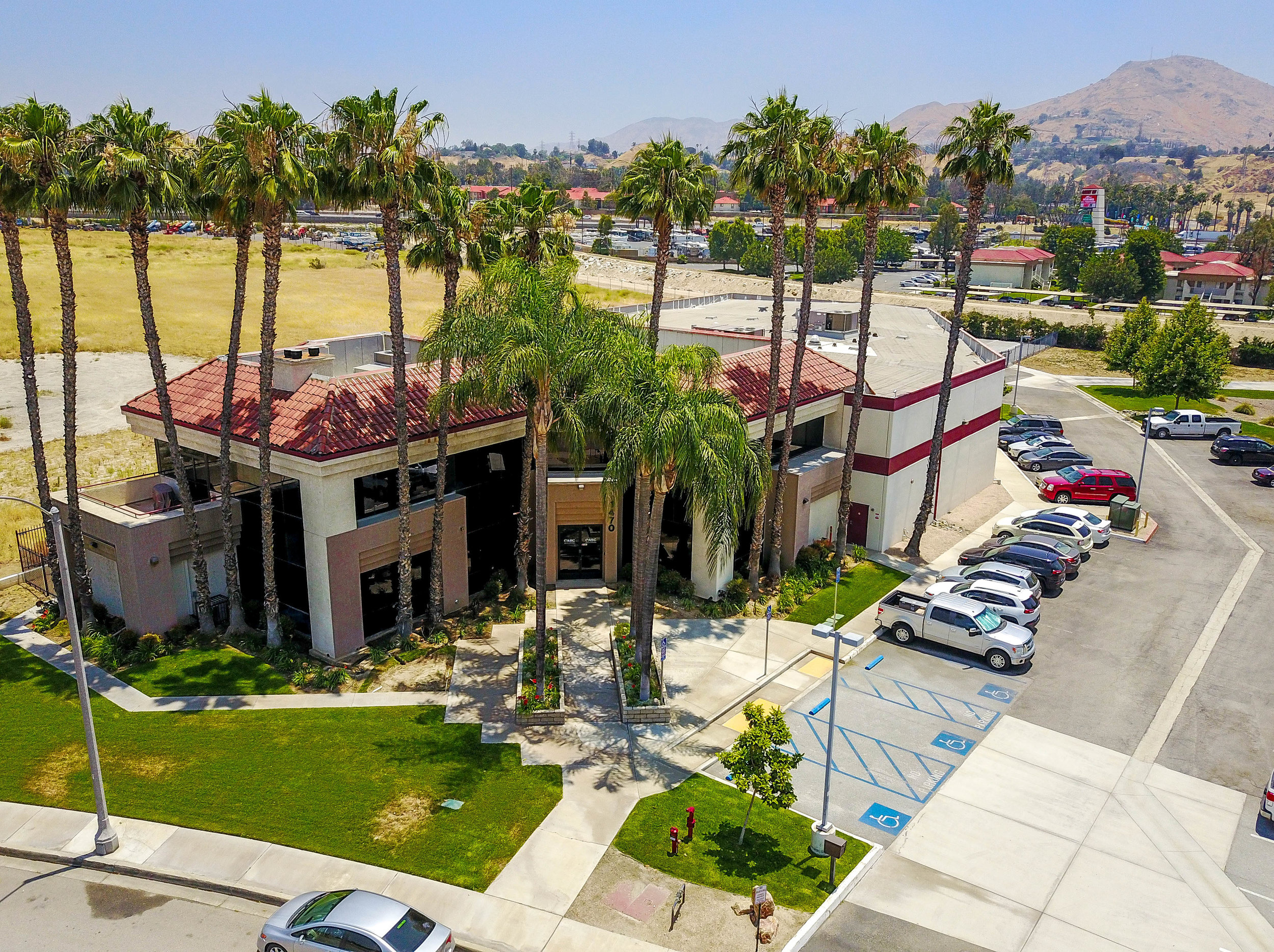 Aerial image of CASC's corporate office in Colton California.