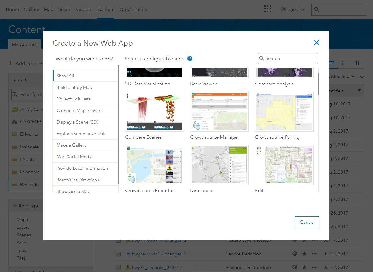 Image of web GIS applications