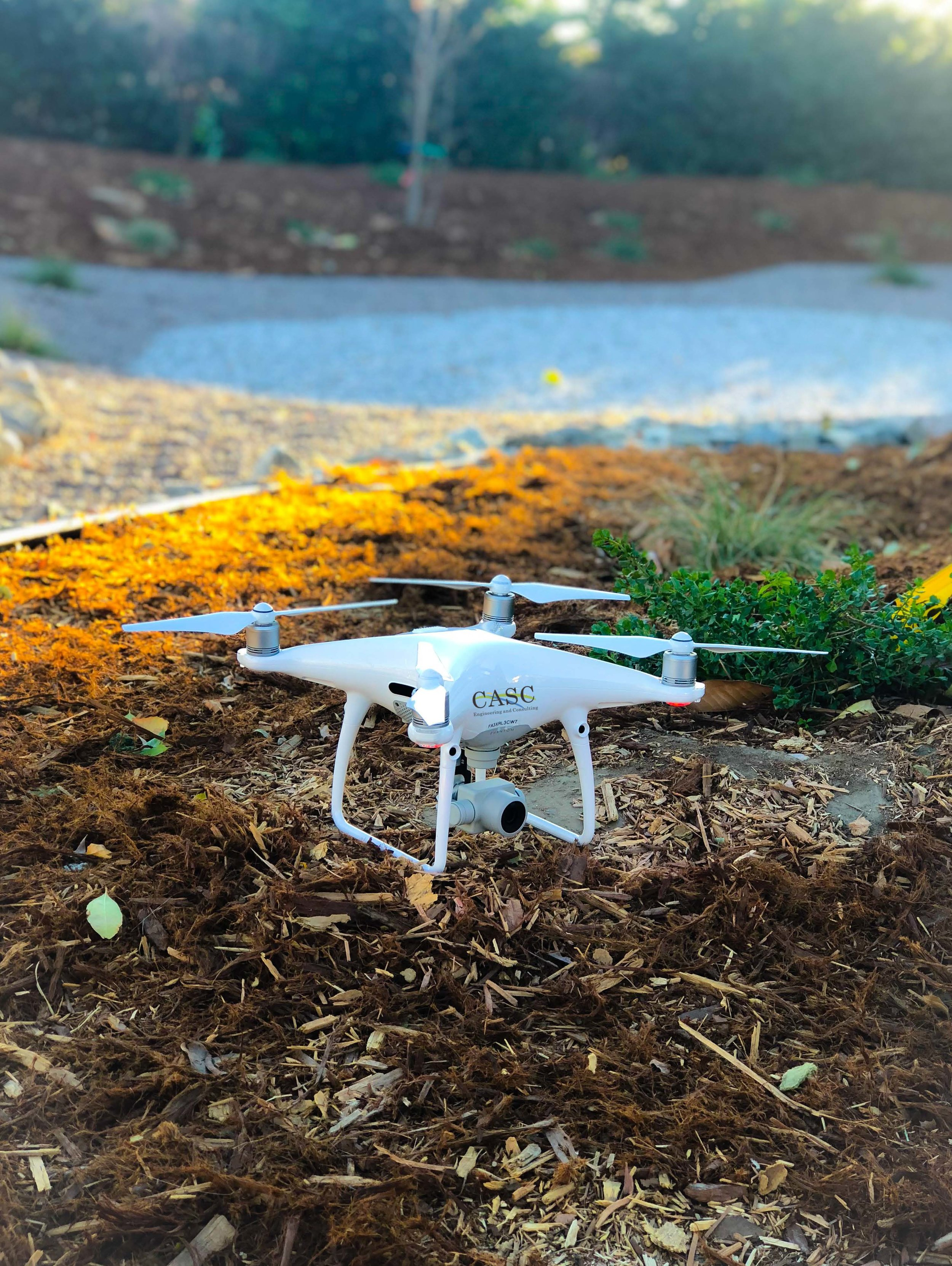 image of CASC drone taking flight.