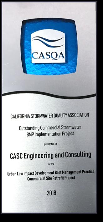 Image of CASQA award.