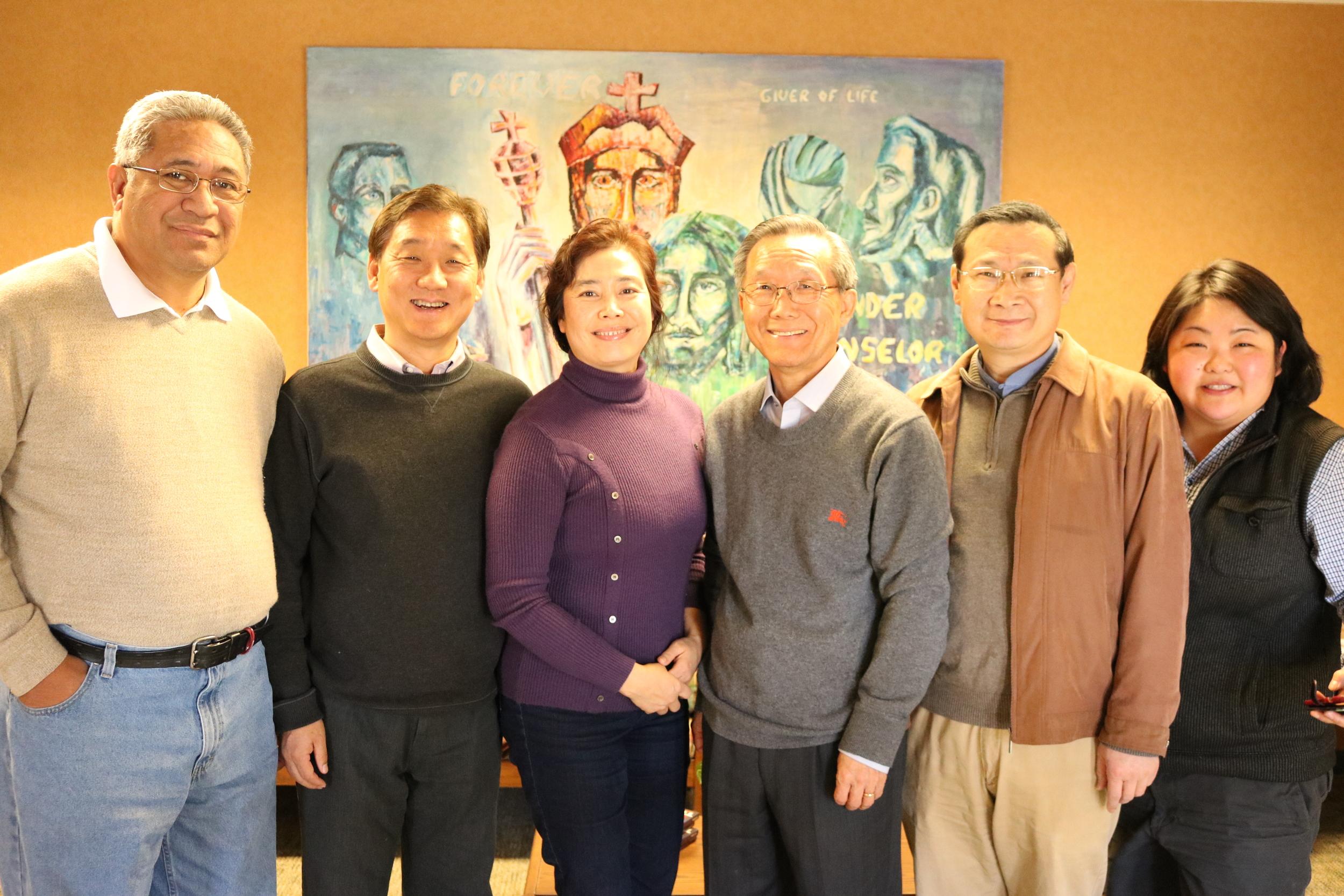 (Beech Grove, IN) 2016 NAPAD ministry team retreat. Picture: Sai Tafaoilii, Youngjun Yang, Younglan Kim, Geunhee Yu, Lian Jiang and Lynnette Li.