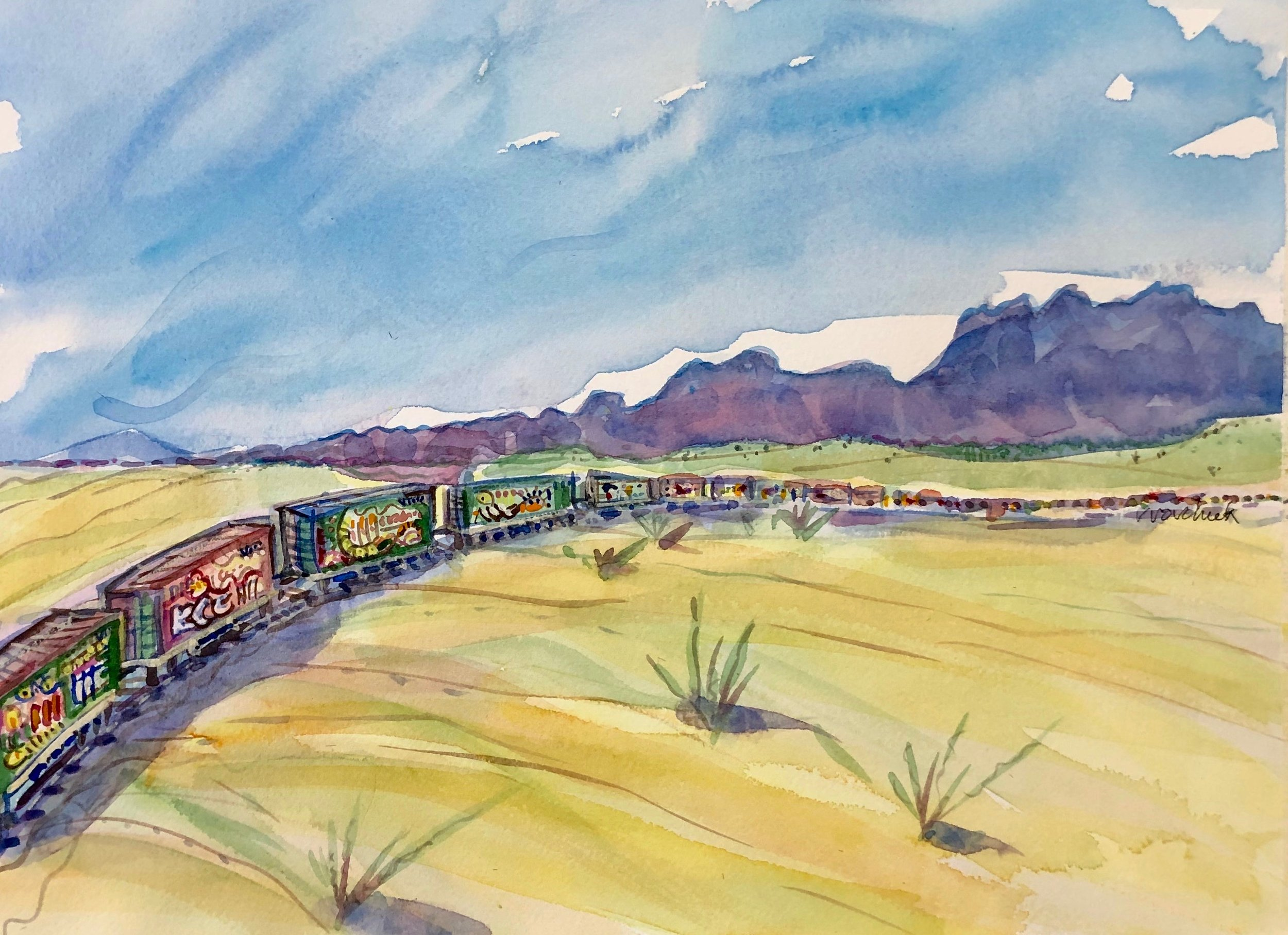 Train near Gila Bend