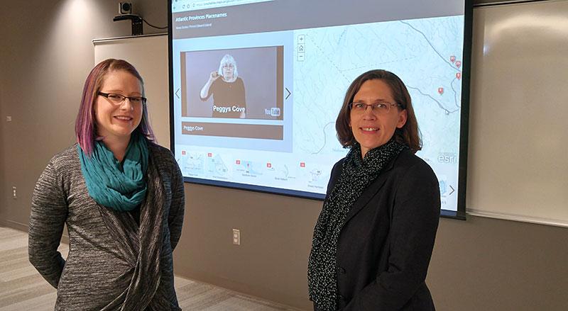 Interpreter Ashley Campbell and Dr. Linda Campbell