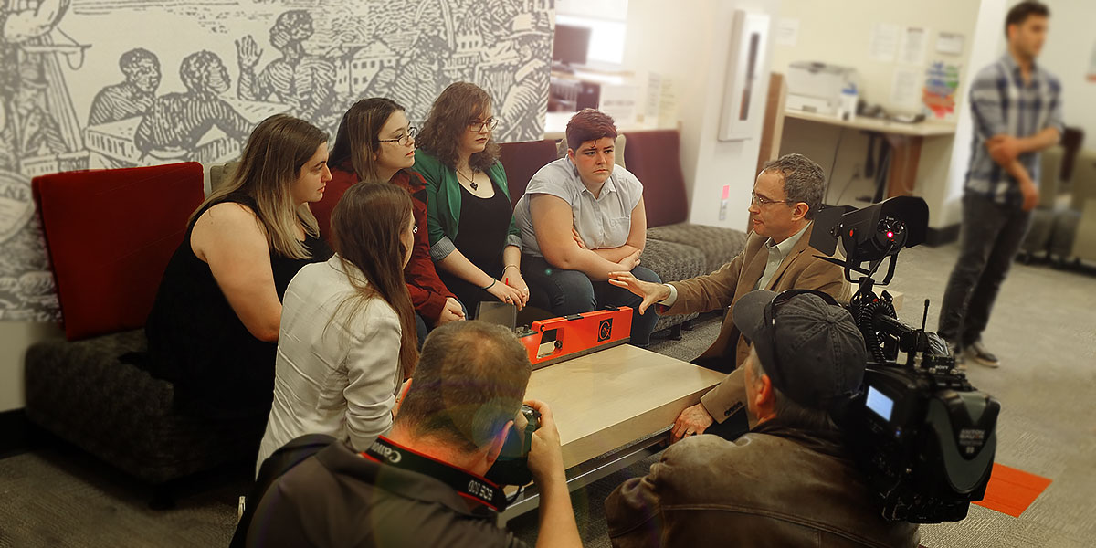 At Wednesday's media event, Dr. Jonathan Fowler showed students some of the equipment they'll be using in Cuba