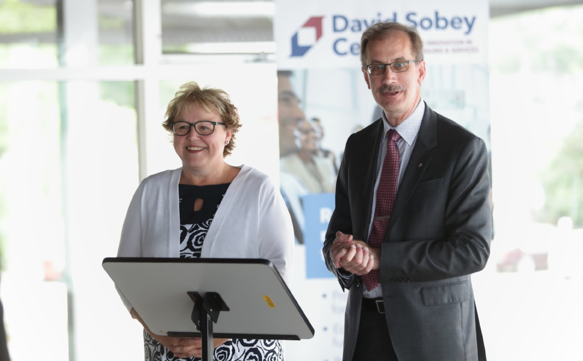 Julie Chaisson, Executive Director of the Halifax Seaport Farmers' Market, Executive Director  and Dr. Malcolm Butler,    Vice President Academic and Research, Saint Mary's University