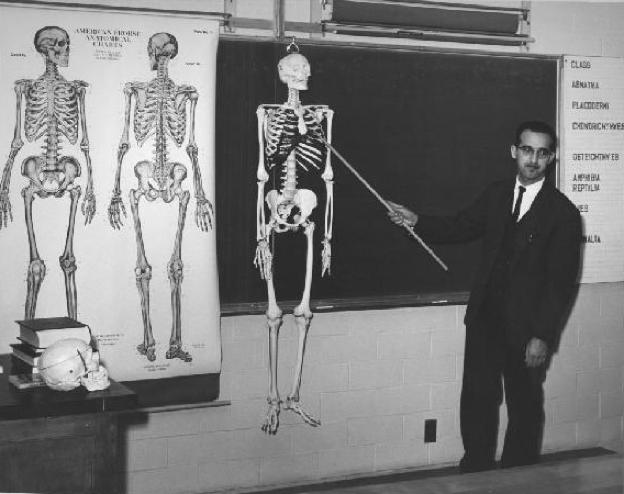 Dr. Rojo teaches a Biology class circa 1962