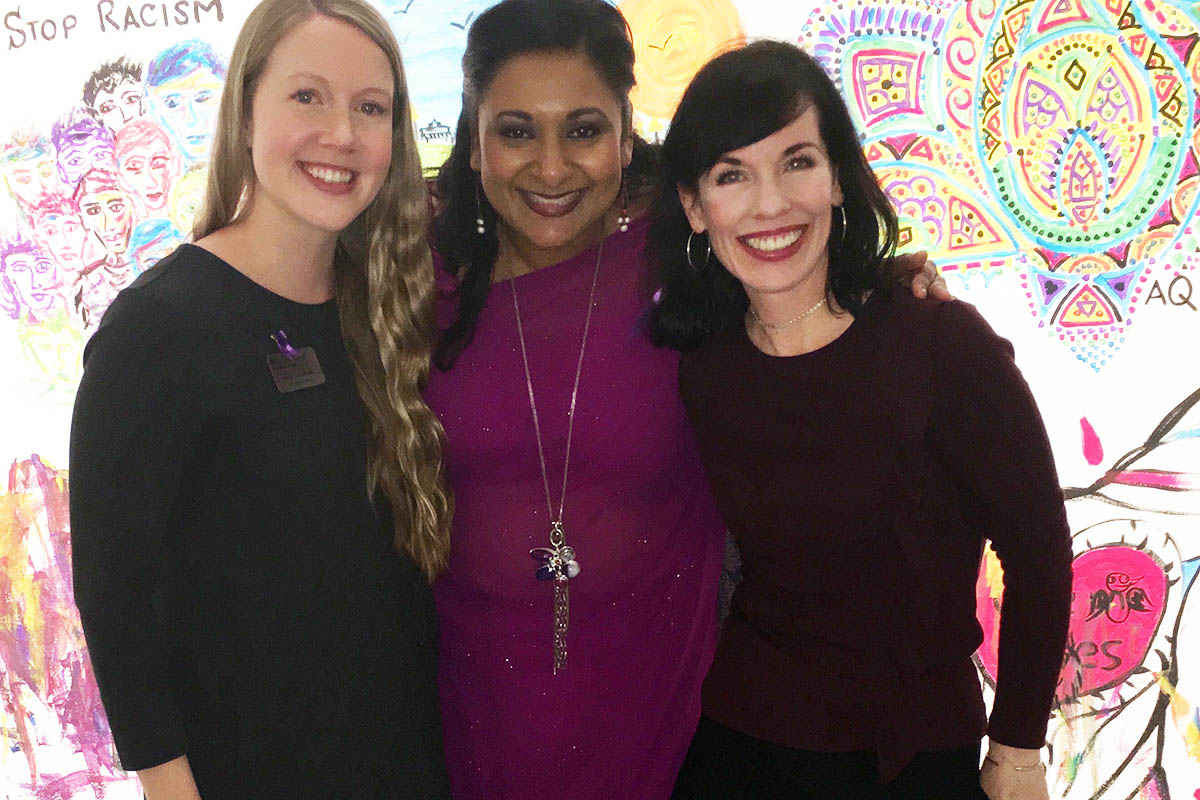 Emily Anderson, Vice -President, Peaceful Schools International, Dr. Rohini Banerjee, SMUFU President and Bridget Brownlow, President of Peaceful Schools International
