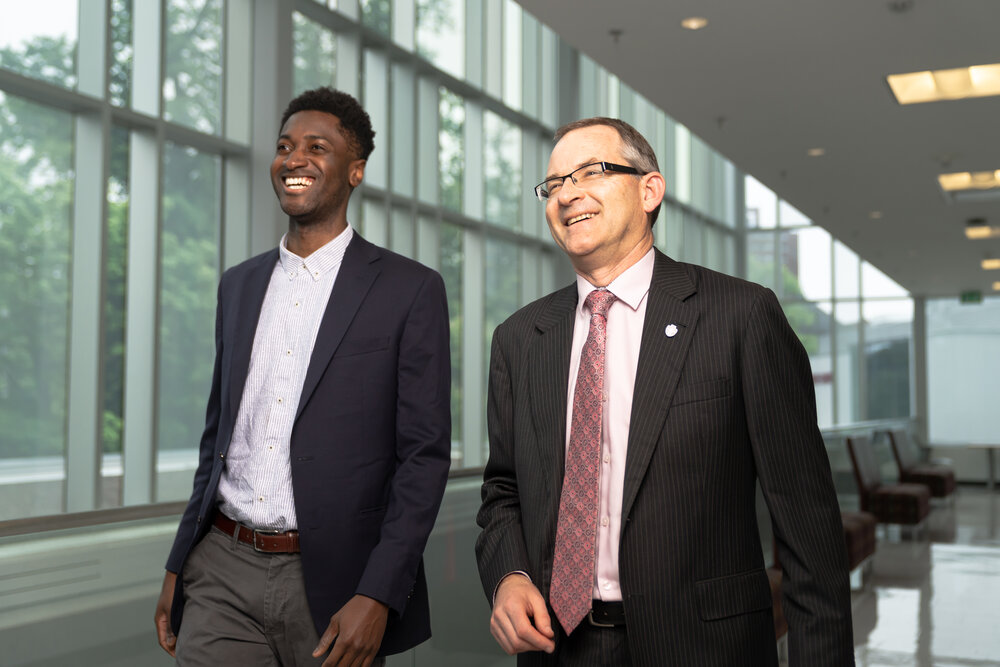 AlfredBurgesson, Founder at Tribe Network and Dr. Robert Summerby-Murray, President of Saint Mary's University.  Photo Credit:  Ian Selig