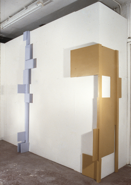 "The Hugger   1994 MDF, plaster, paint 67 x 23.6 x 20""(170.2 x 59.9 x 50.8 cm)"