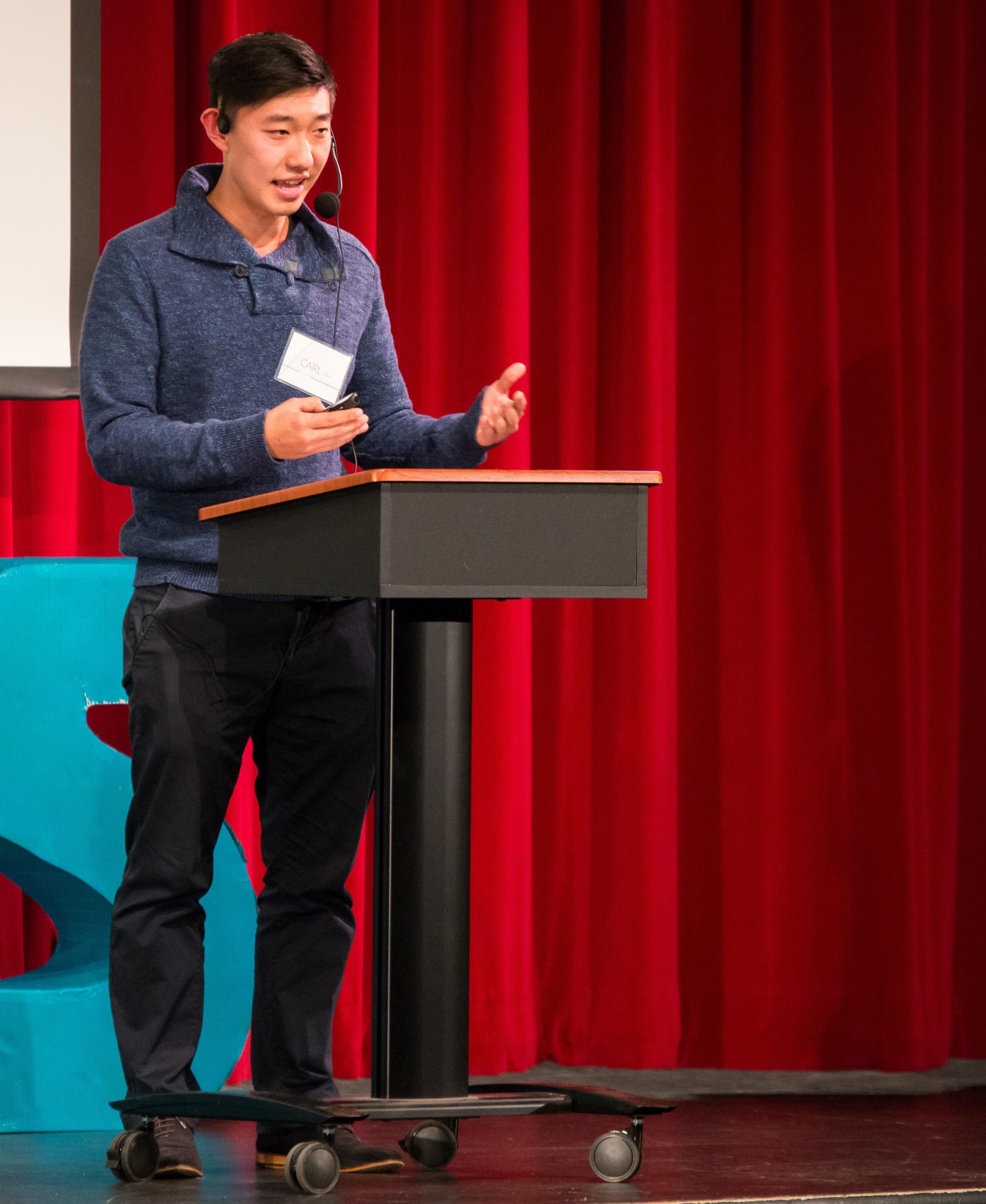 Giving a talk at lynbrook high school, 2016