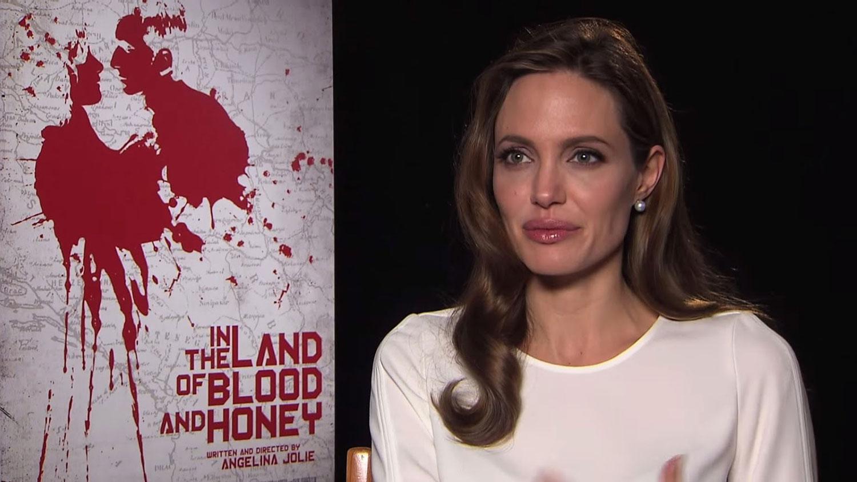 Angelina Jolie during her interview on Balkan Spirit