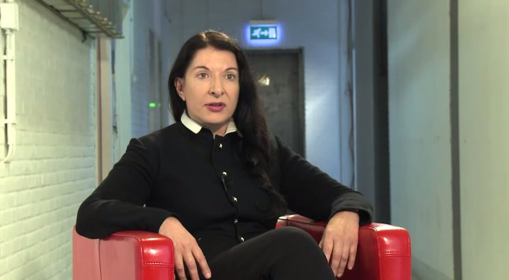 Marina Abramovic during her interview on Balkan Spirit