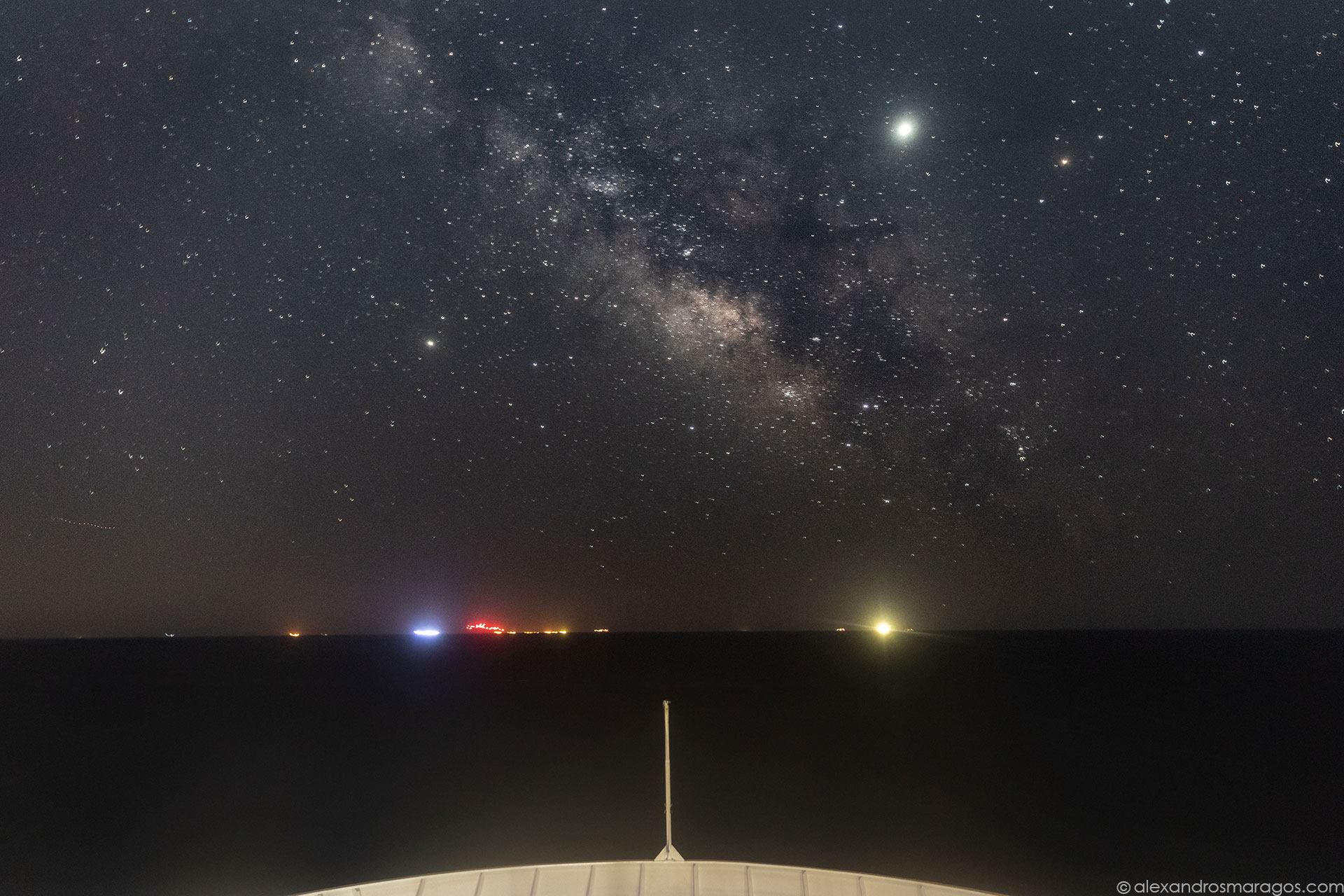 The Summer Milky Way over the Aegean Sea, Greece, Taken From a Moving Ship | © Alexandros Maragos