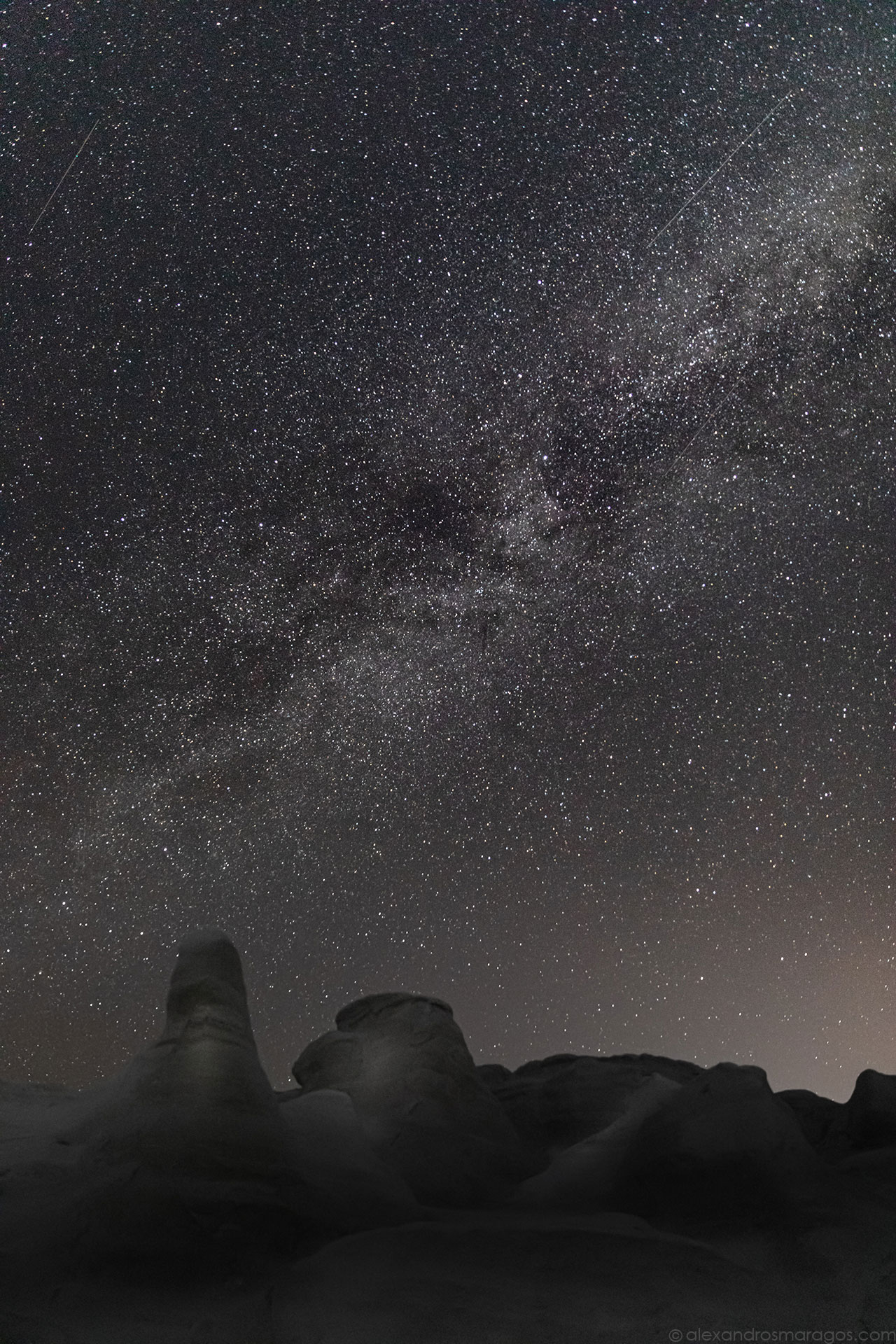 The Milky Way over Sarakiniko, Milos, Greece | © Alexandros Maragos