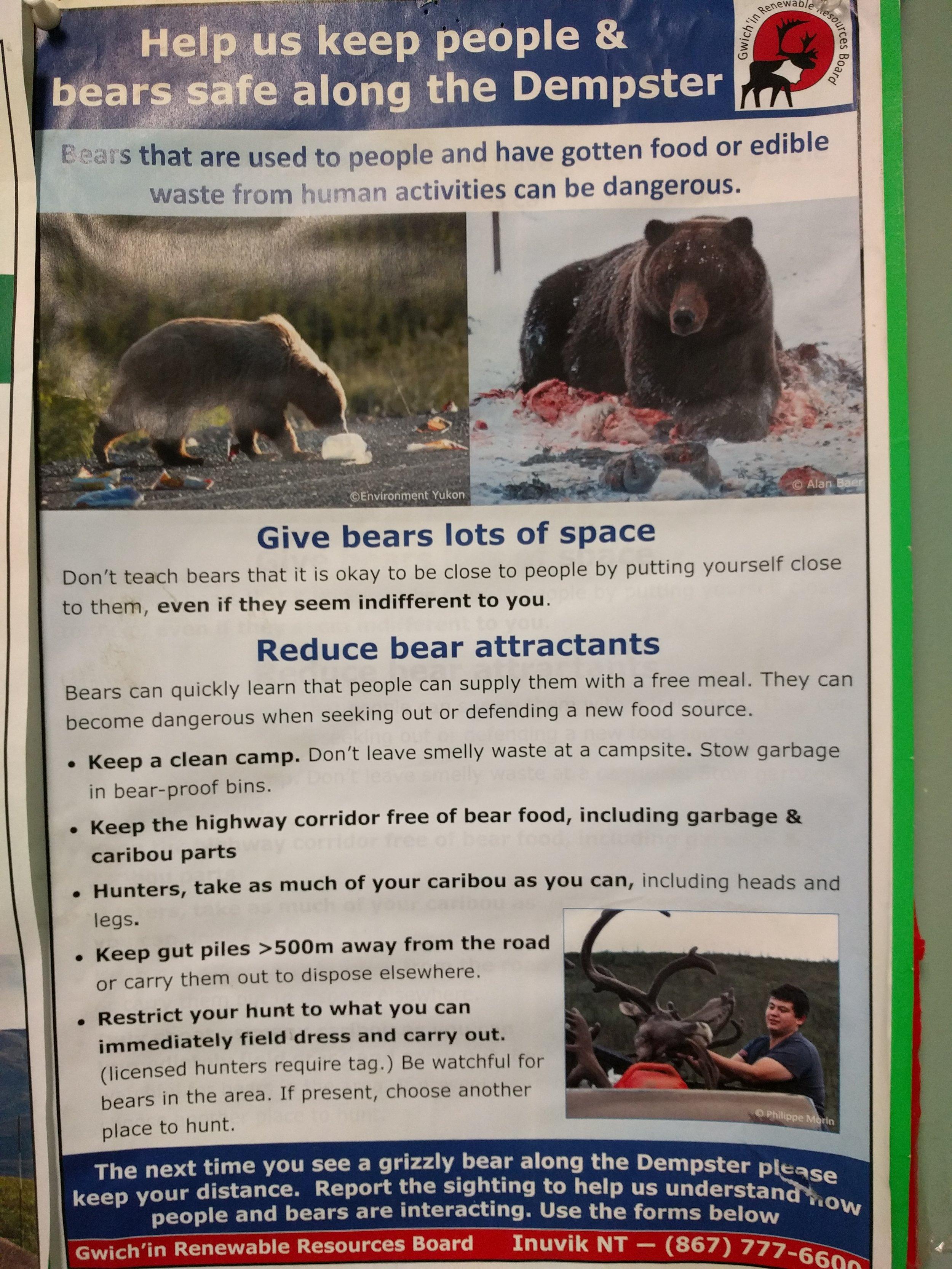 Dempster bear attractant sign.jpg
