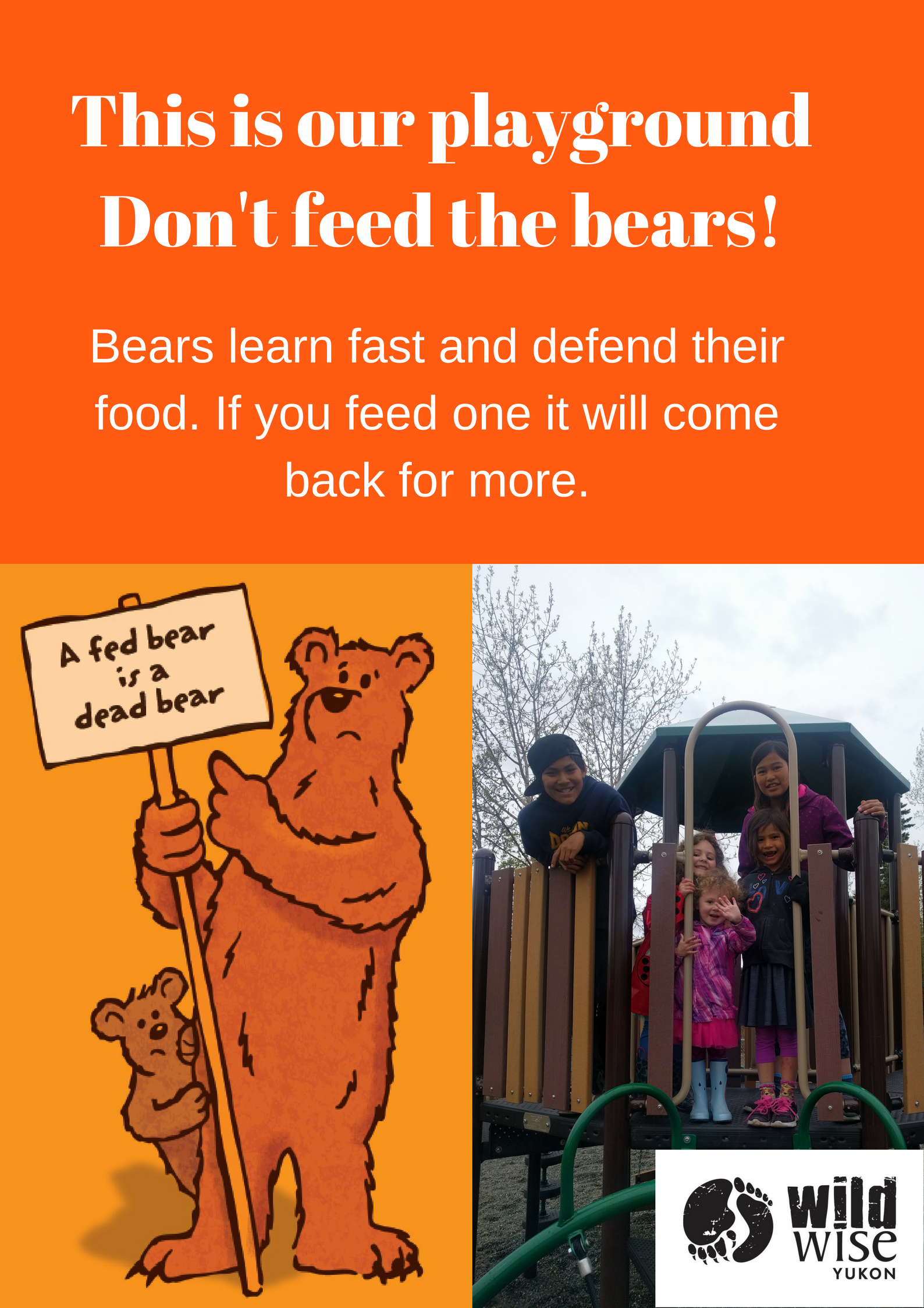 Kids take action! - Check out what the Beaver Creek school kids made! They are concerned about food conditioned bears coming into their community, making it unsafe for them to play outside.