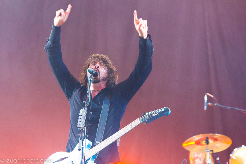 "Main stage headliners Foo Fighters had one of the weekend's biggest crowds witness their ""Rock n Roll show"""