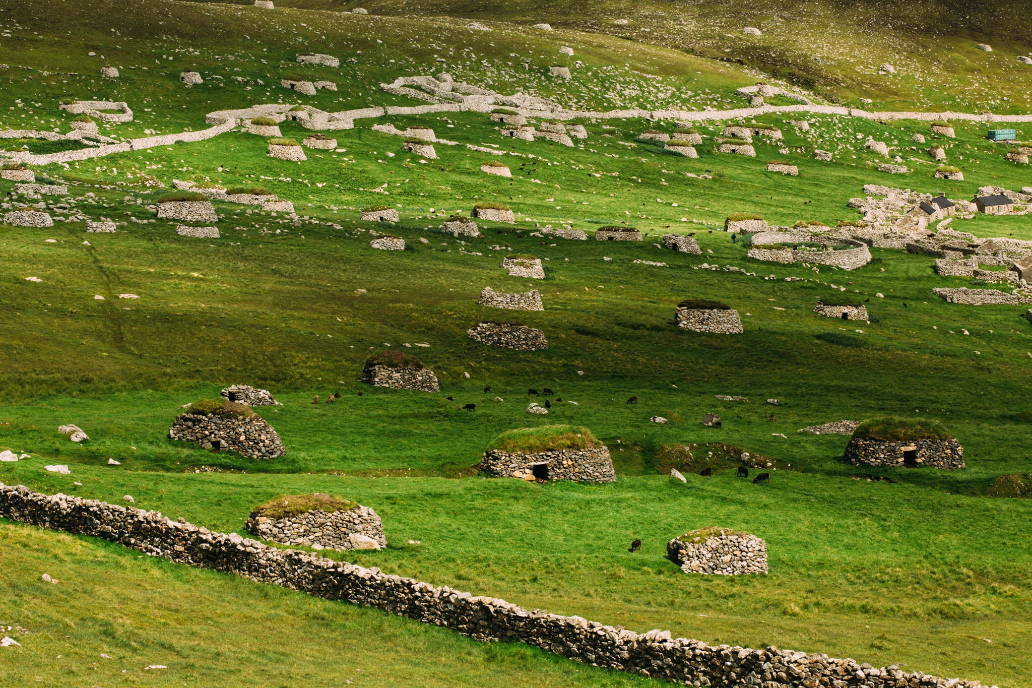 It's estimated that St Kilda was populated for around 3500 years before being evacuated in August 1930. That takes the original population back to the Bronze Age. I'm so curious as to how they got there, and survived for all of those years.