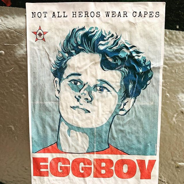Love the good work #Melbourne. Keep it up. #eggboy #streetart