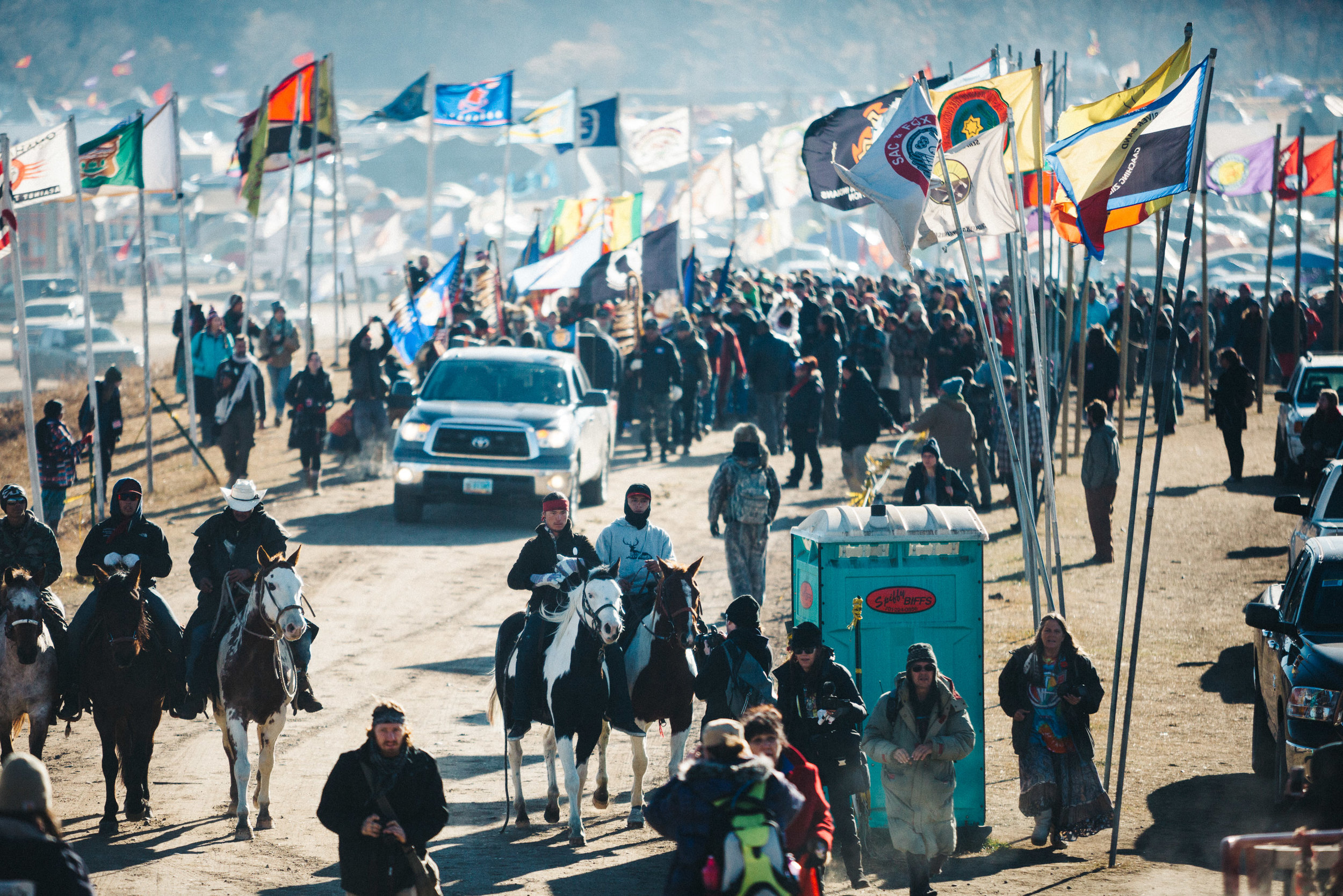 Veteran's Day March at Standing Rock