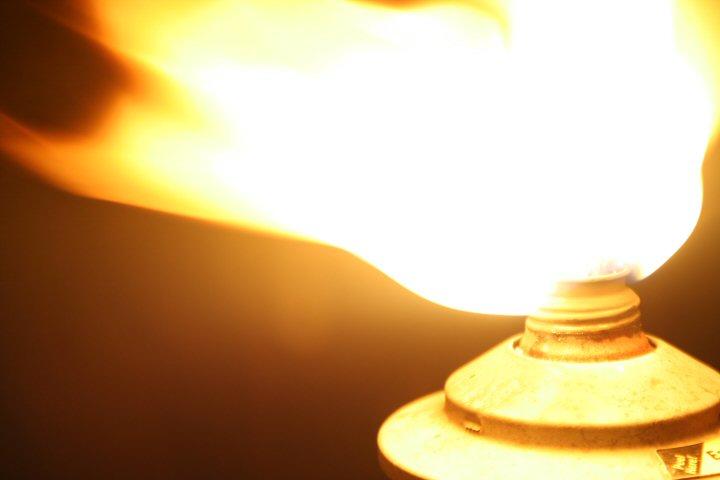 [Image description: close-up photograph of the bright flame of a lit torch.]   Nicholas LabyrinthX / Creative Commons