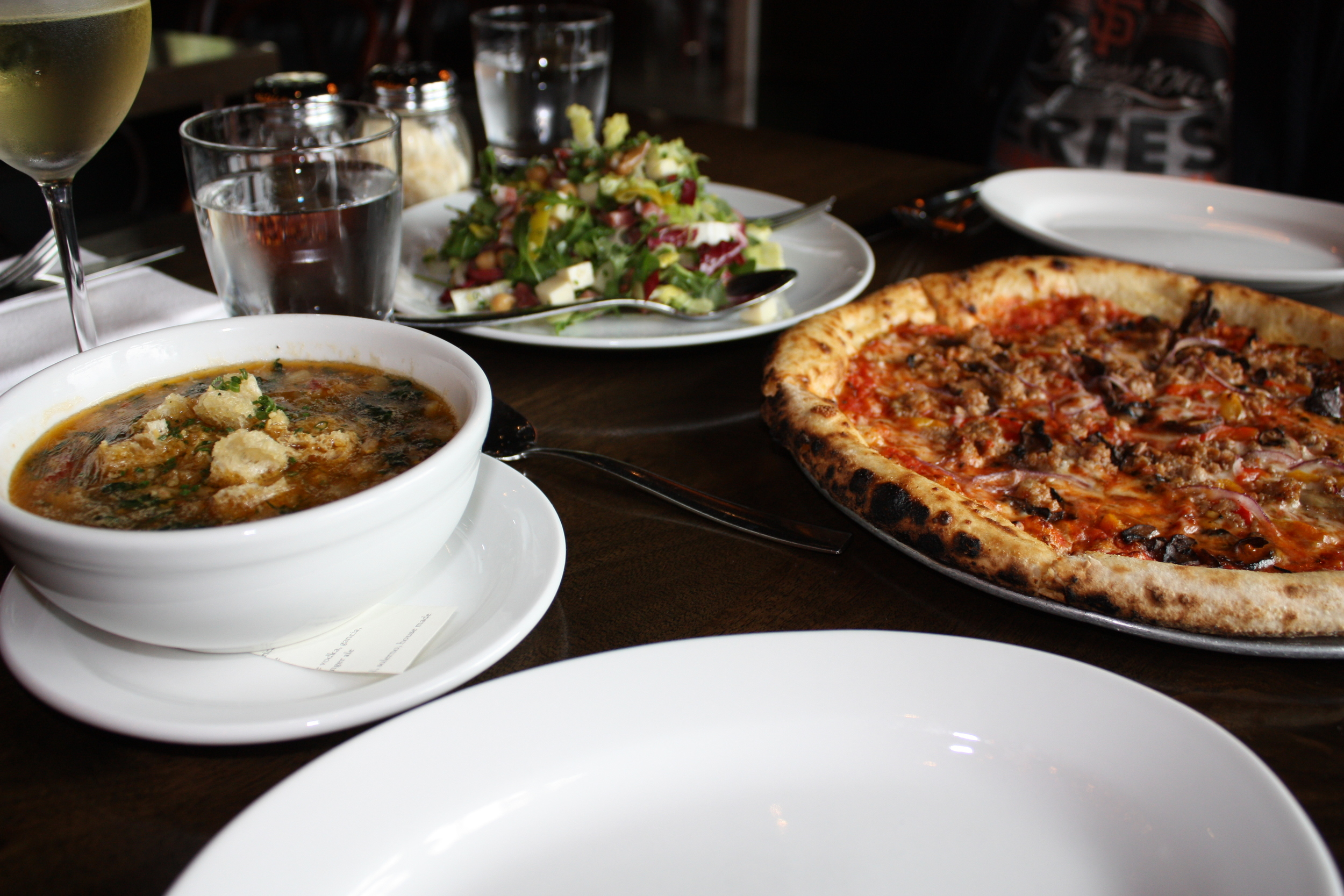 Reddwood restaurant located in Yountville, definitely some of the best wood fired flatbreads around.