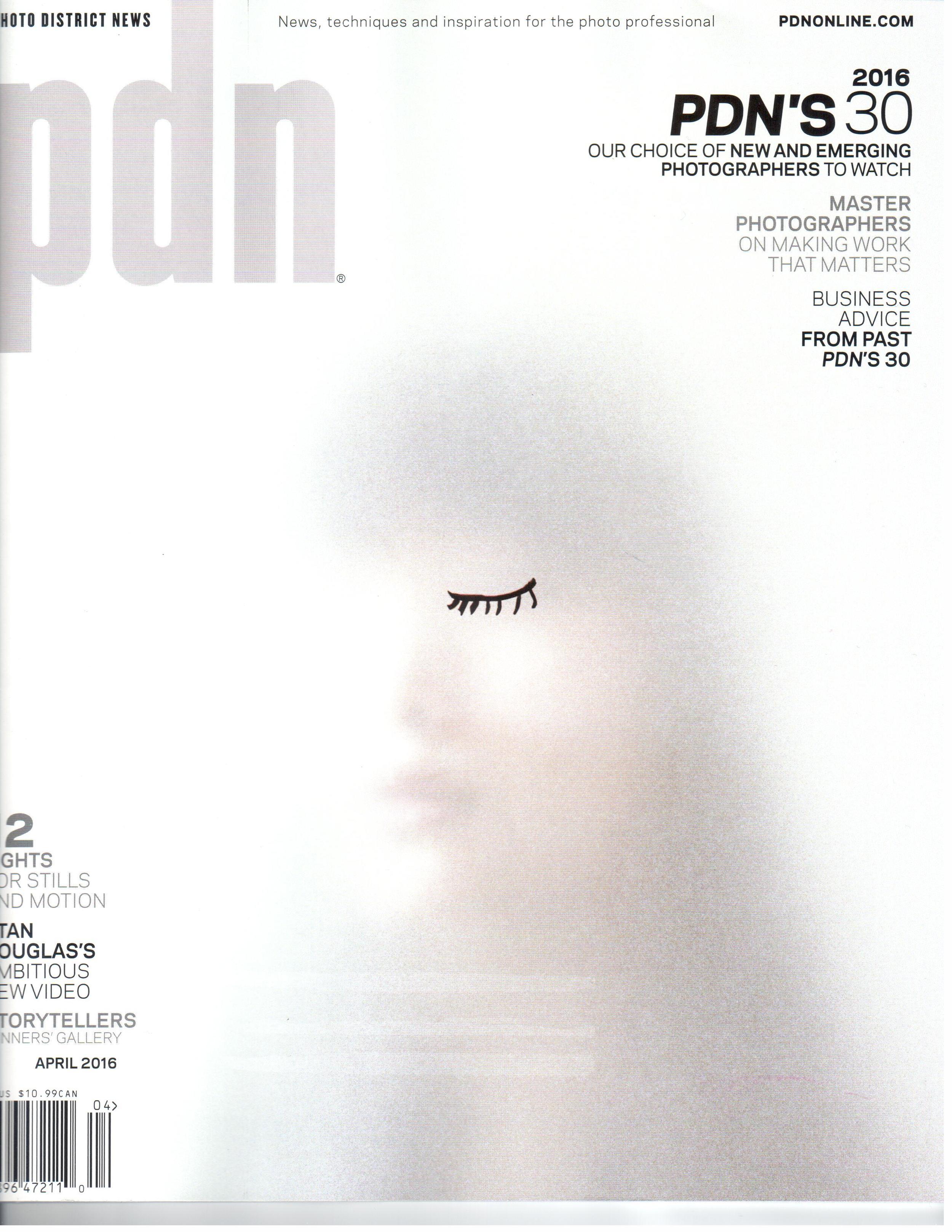 Cover, PDN, April 2016.