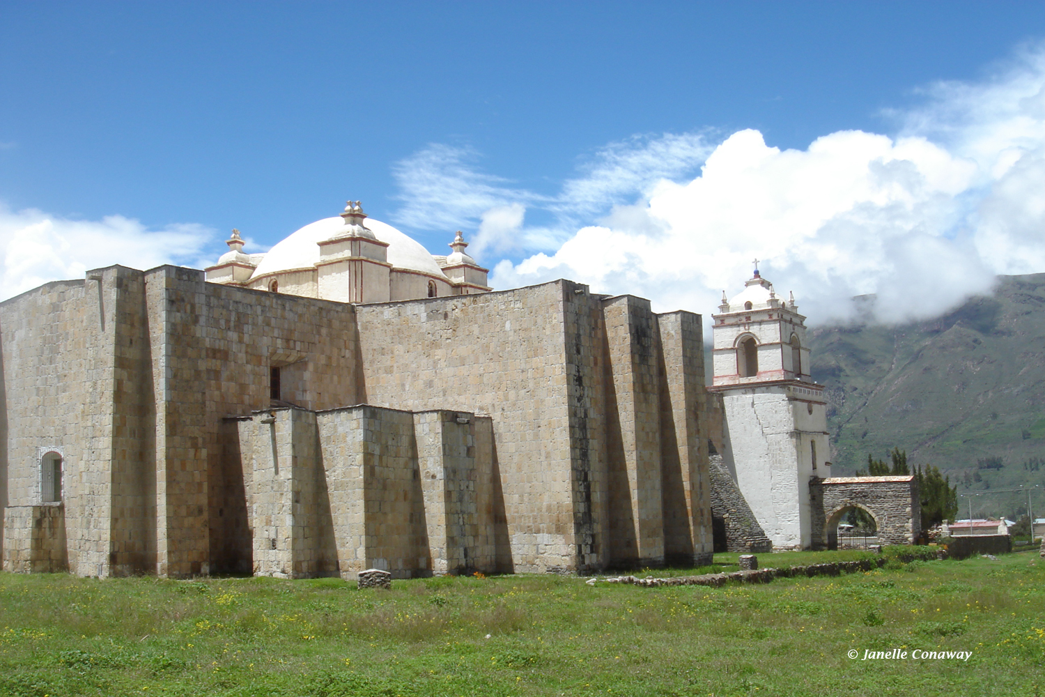 """The 1758 church in Lari, the only one in the series built in the shape of a cross,is sometimes called the """"Colca Cathedral"""" because of its monumental size."""