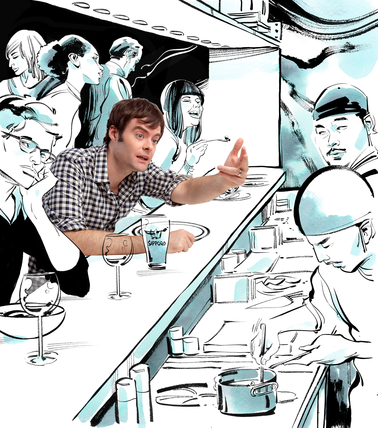 Bill Hader Food / Village Voice