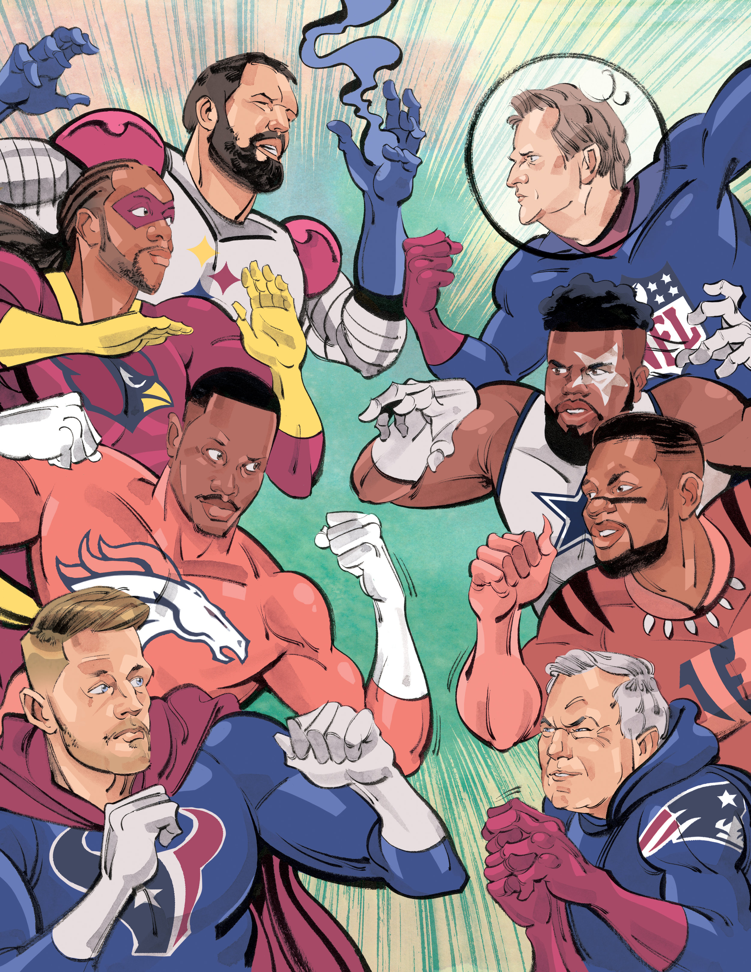 NFL Heroes and Villains / Men's Journal