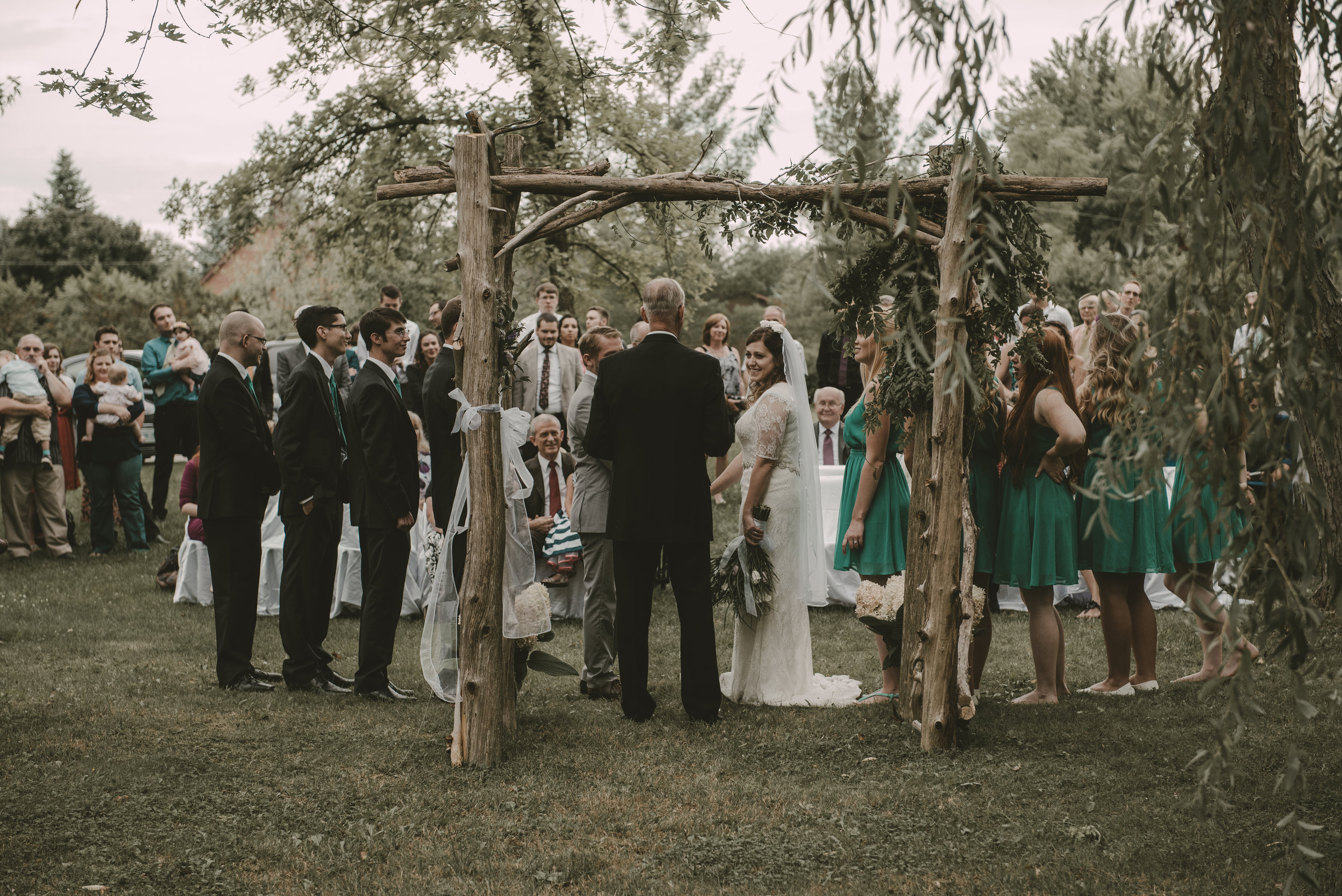 Jacqueline & Helaman // Backyard Wedding
