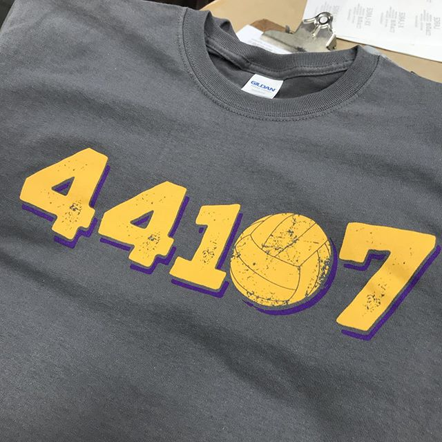 Sweet design for Lakewood Volleyball! Happy to help out the program! #44107 #lakewood #screenprint