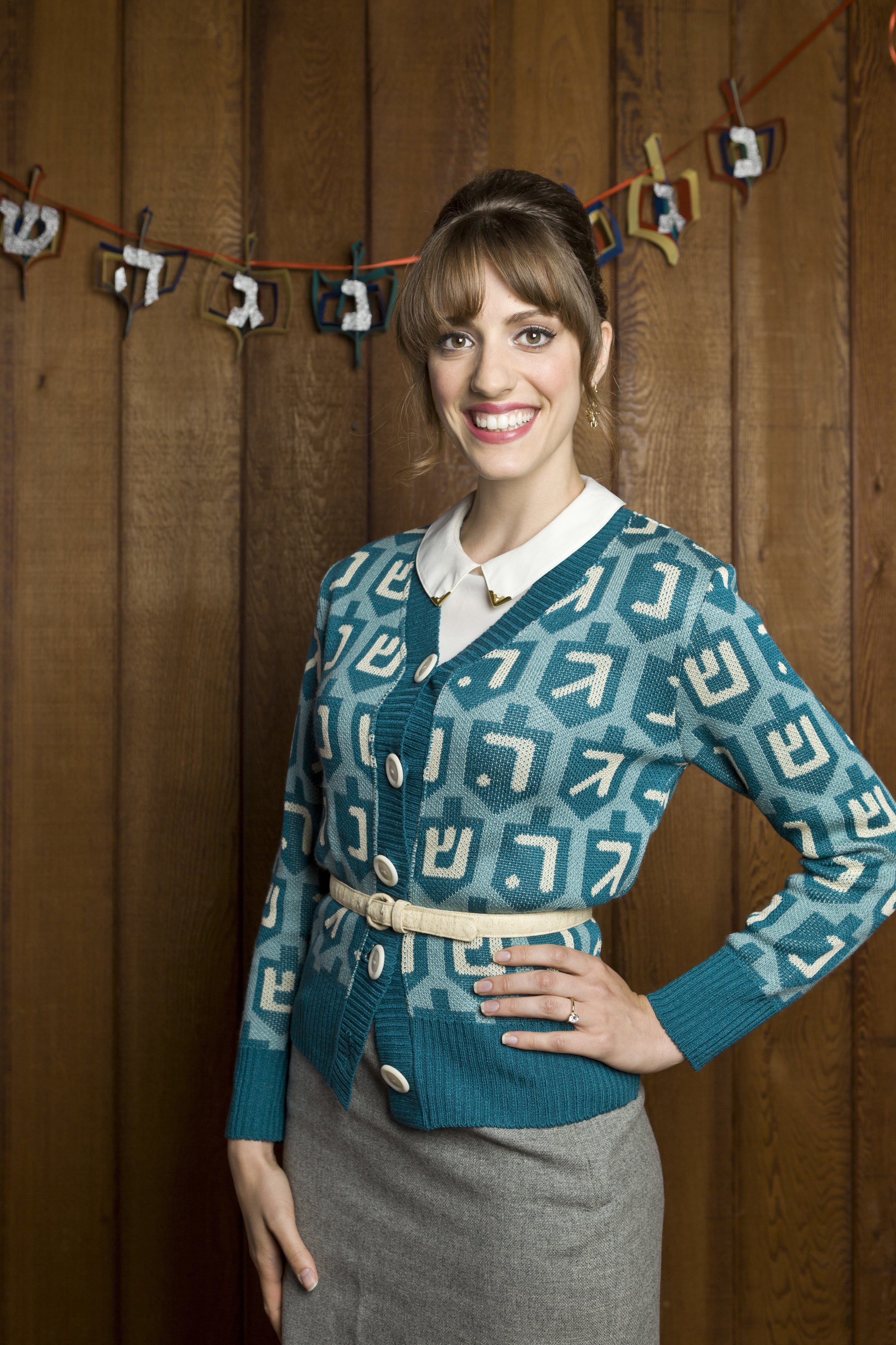 Spinster Hanukkah Cardigan Sweater