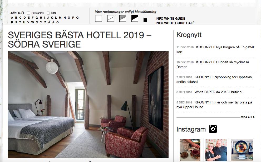 Årets fab 2019. White Guide Hotel & Bar