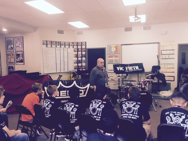Clinic at the Las Vegas Drum Camp, 2015