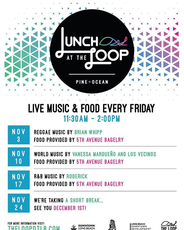 Happy #NationalSandwichDay! Join us for Lunch at the Loop as we kick off November with music from Brian Whipp and eat some delicious sandwiches from the 5th Ave Bagelry. They'll also be serving Thai Tea, cookies and more, so make sure you stop by anytime between Noon and 2pm!