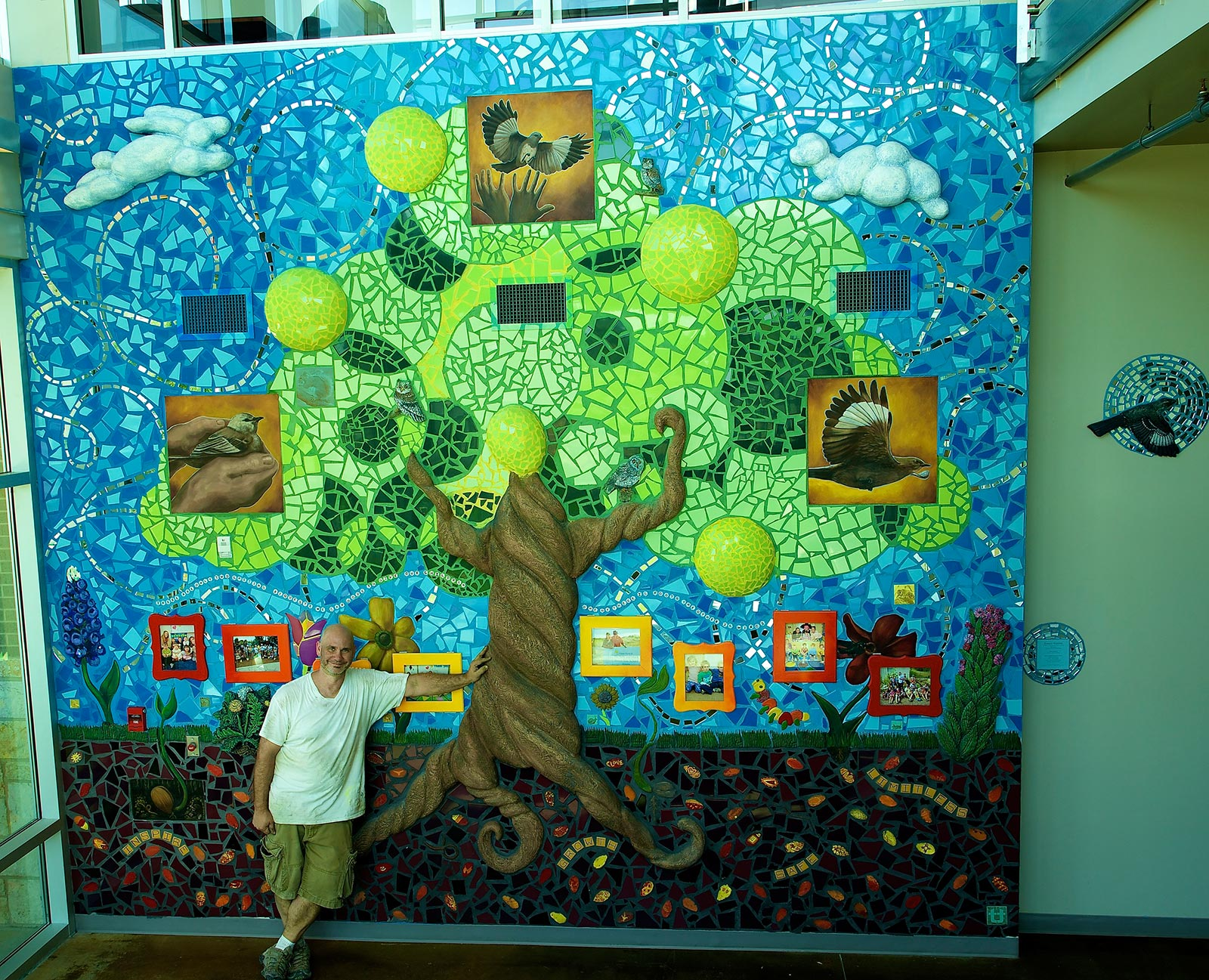 Renowned artist TRACY VAN DUINEN creates an original mosaic masterpiece for The Rise School of Austin sponsored by DEPT. OF CULTURE