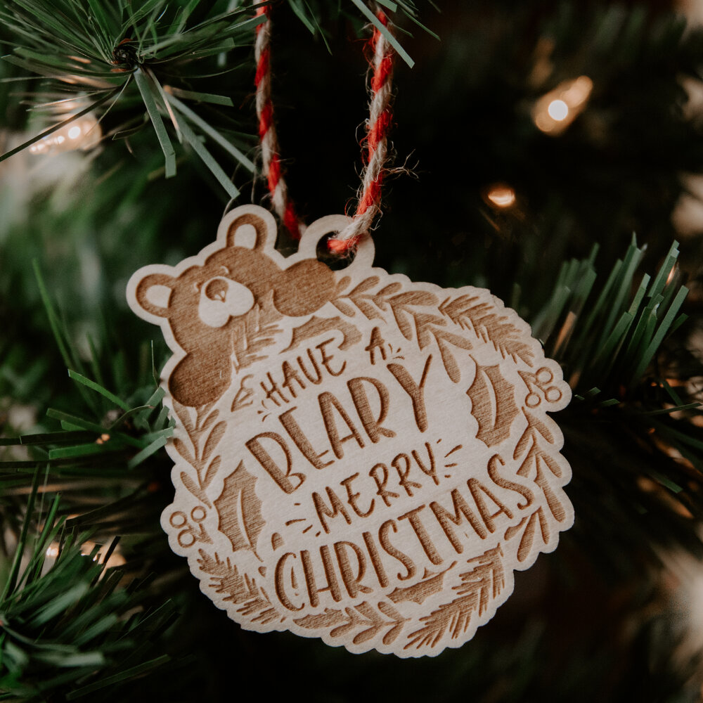 I/'m Fluffy Bearfoots Christmas Ornament Tree Decoration