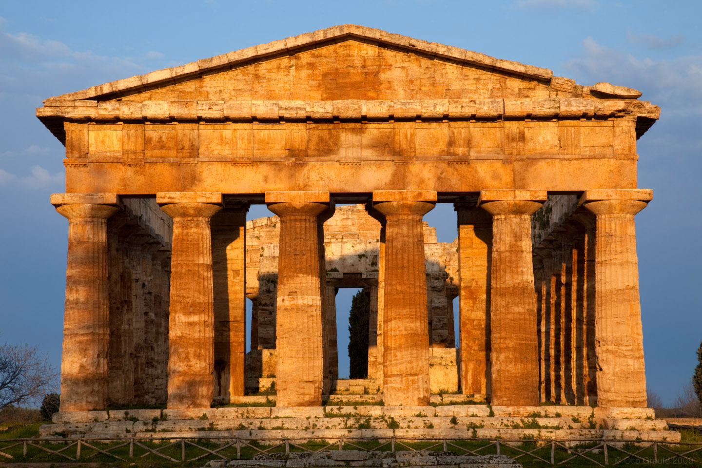 The Temple of Hera II (Neptune), Paestum, Italy.